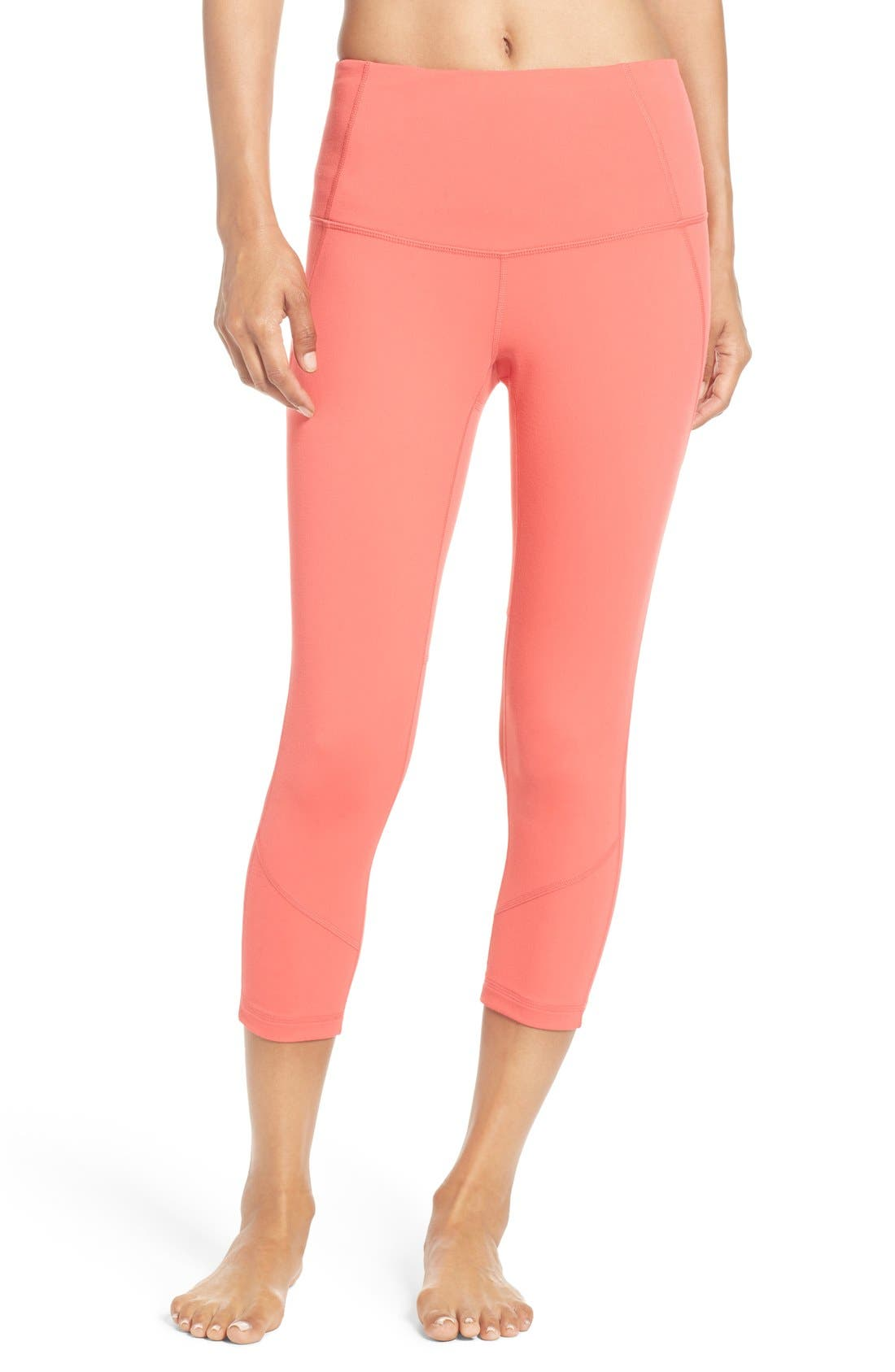 'Live In - Sultry' High Waist Mesh Crop Leggings,                             Alternate thumbnail 23, color,