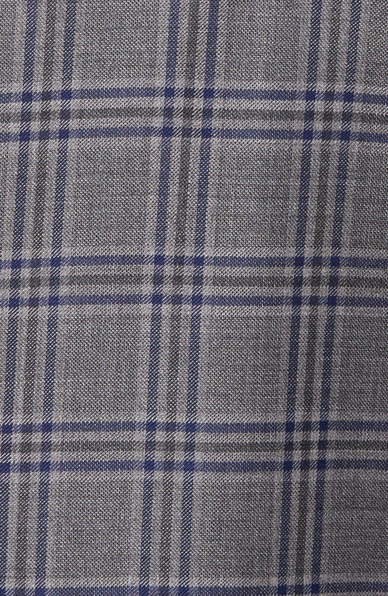Classic Fit Plaid Wool Sport Coat,                             Alternate thumbnail 6, color,