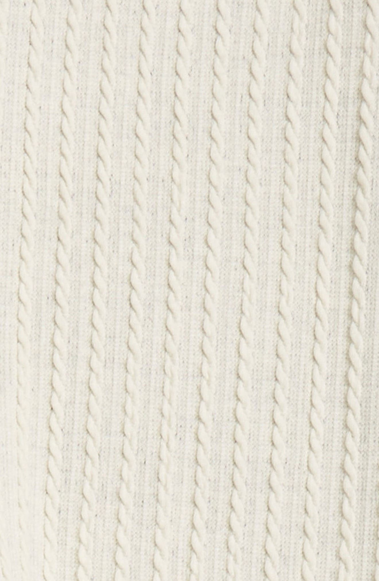 Cable Knit Leggings,                         Main,                         color, IVORY EGRET