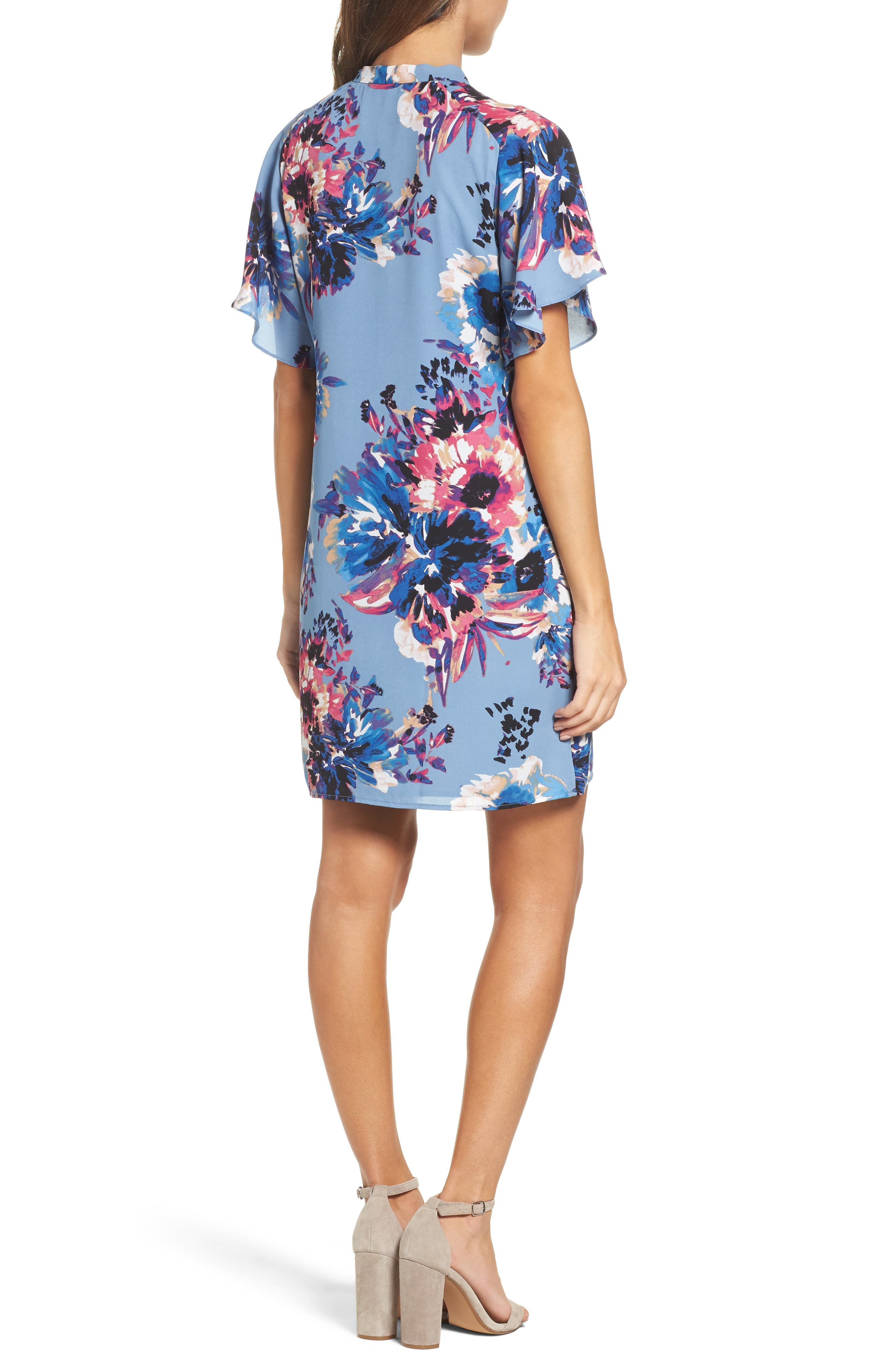 Tie Neck Shift Dress,                             Alternate thumbnail 2, color,                             475