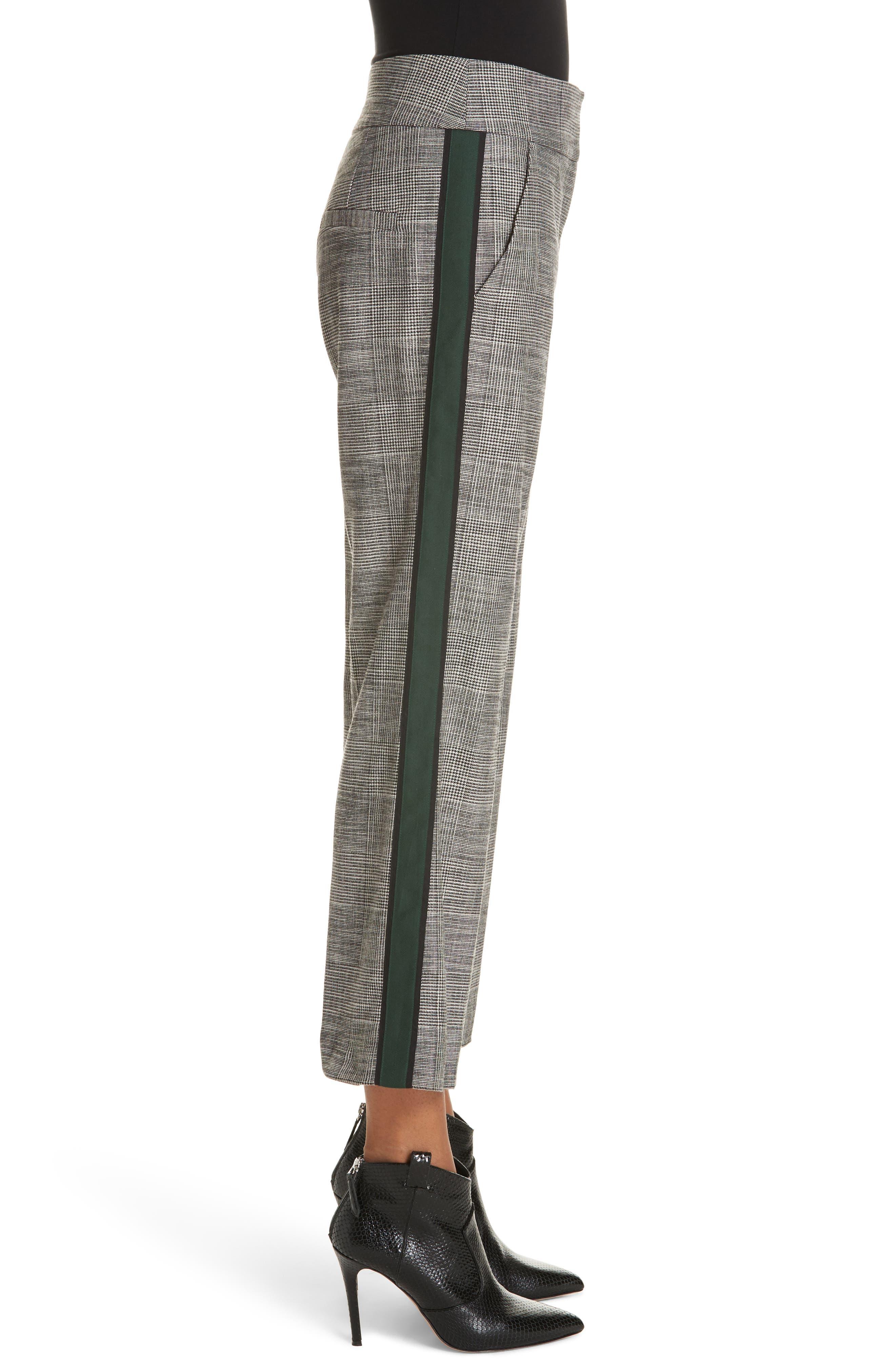 Cormac Side Stripe Check Trousers,                             Alternate thumbnail 3, color,                             020