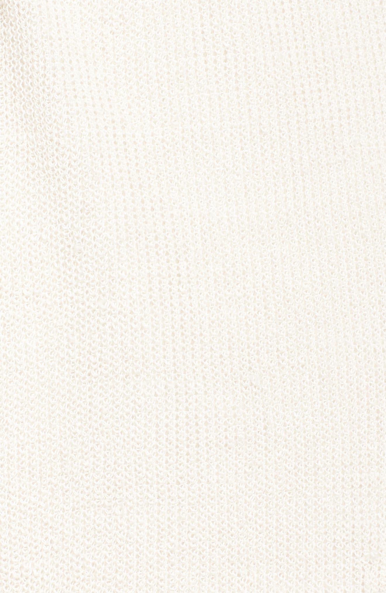 Long Organic Linen Blend Kimono Cardigan,                             Alternate thumbnail 15, color,