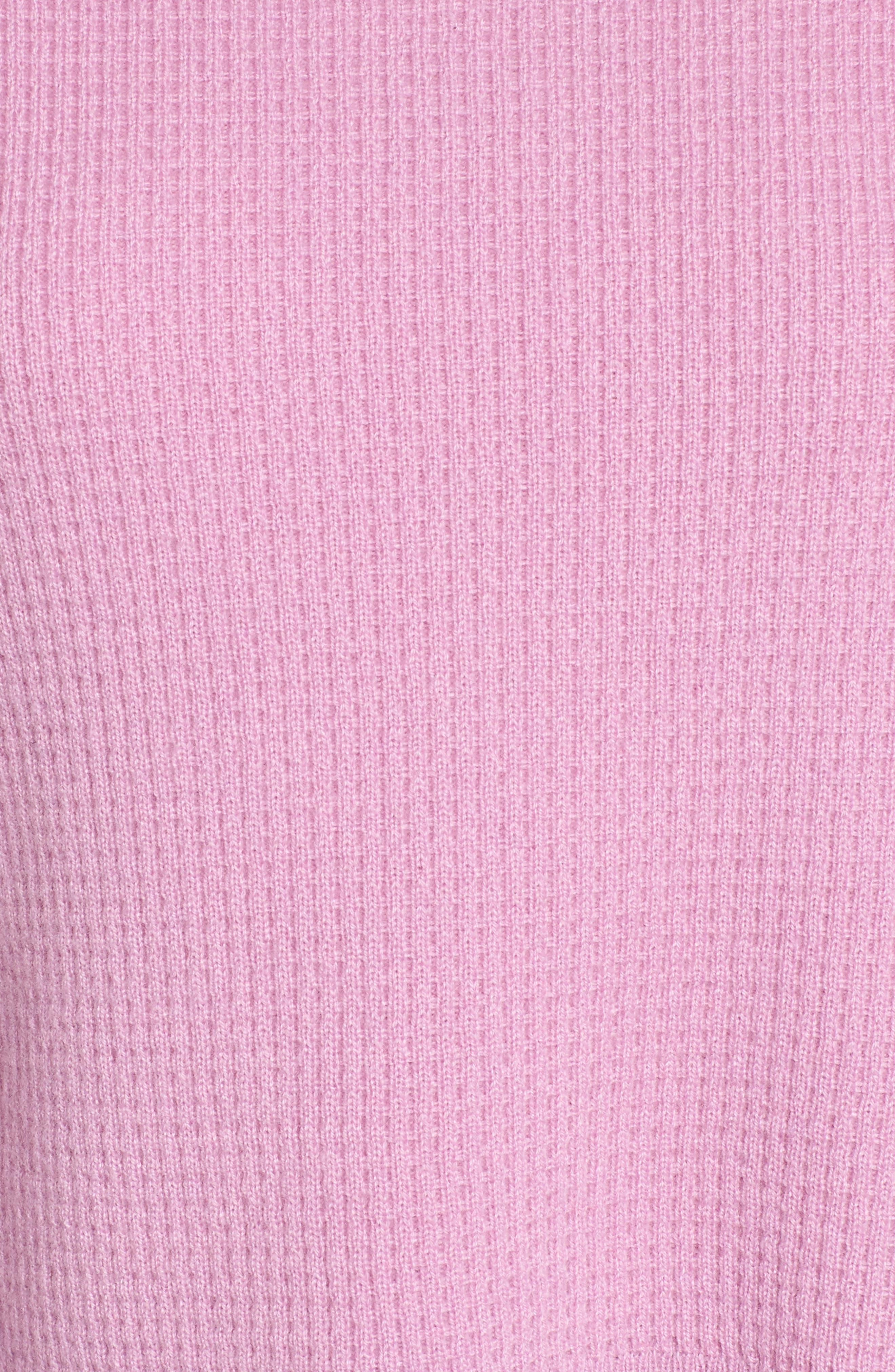 Waffle Stitch Cashmere Sweater,                             Alternate thumbnail 10, color,