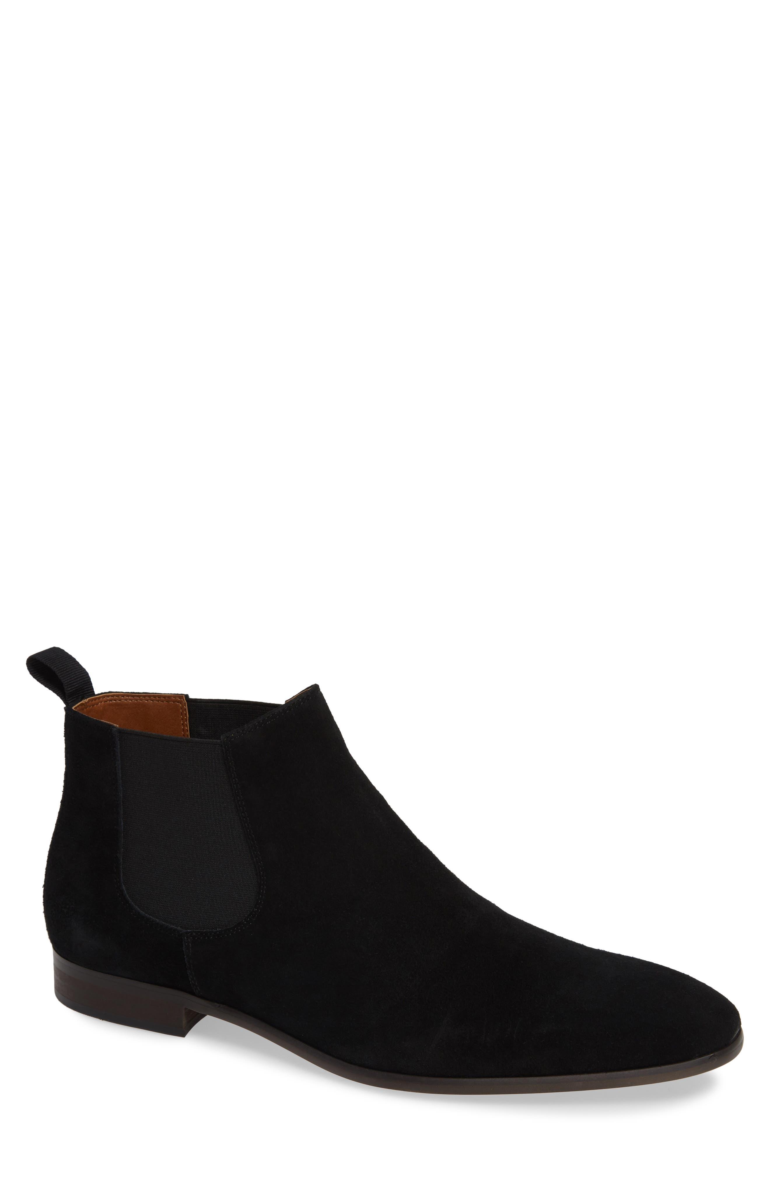 Edward Chelsea Boot,                             Main thumbnail 1, color,                             BLACK SUEDE