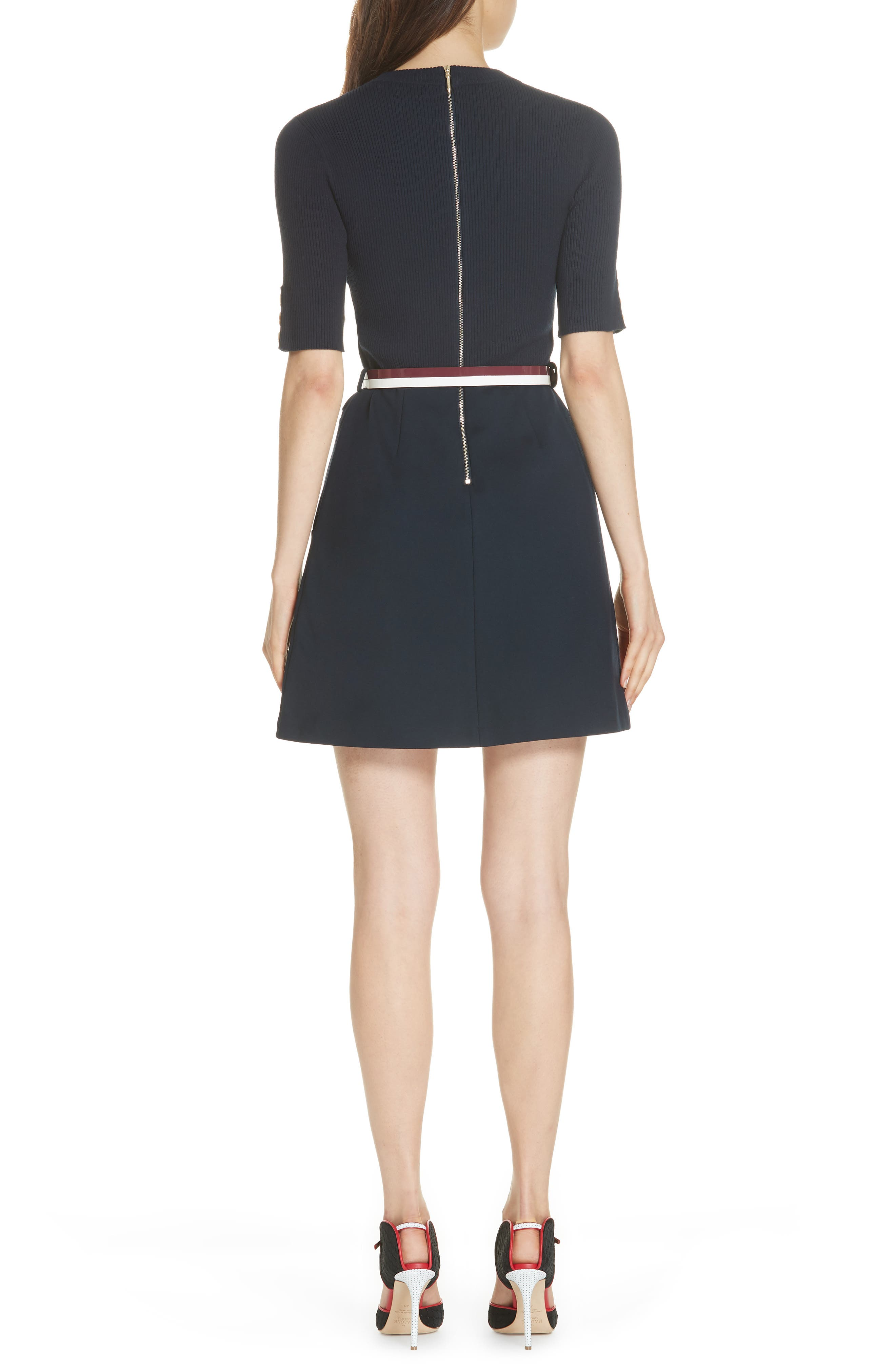 Colour by Numbers Elsbeth Mix Media Dress,                             Alternate thumbnail 2, color,                             410