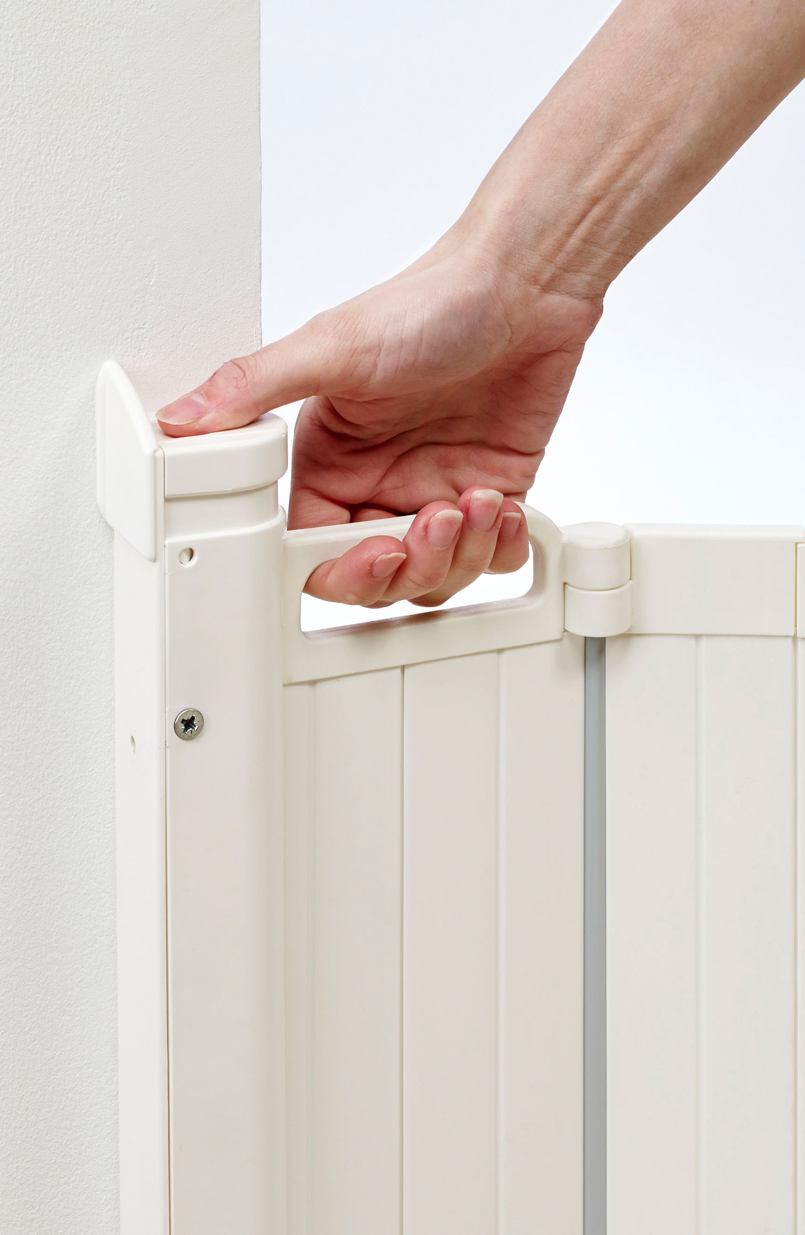 Guard Me Retractable Safety Gate,                             Alternate thumbnail 2, color,                             WHITE