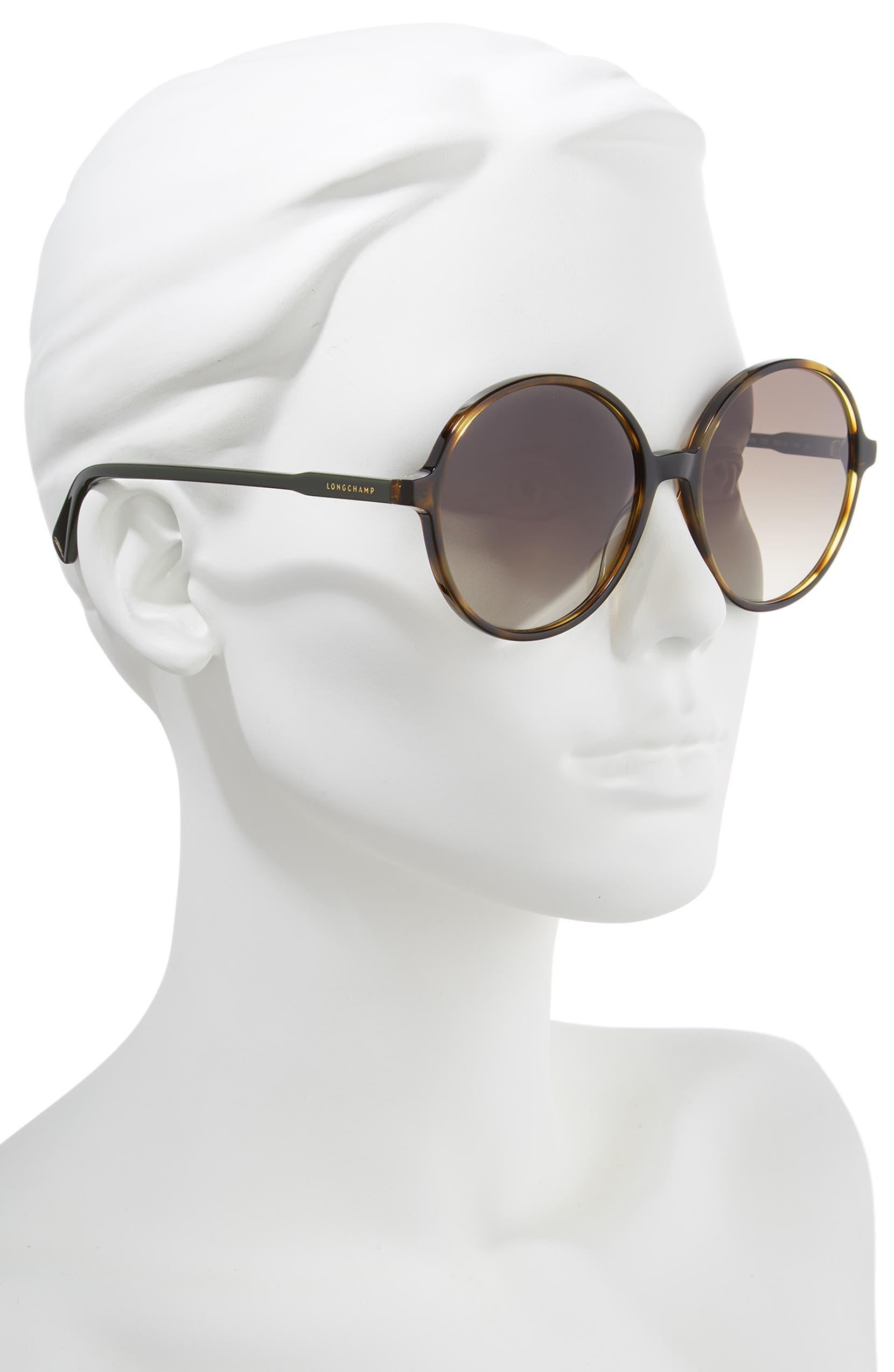 9e816677c2c Longchamp 49mm Gradient Round Sunglasses