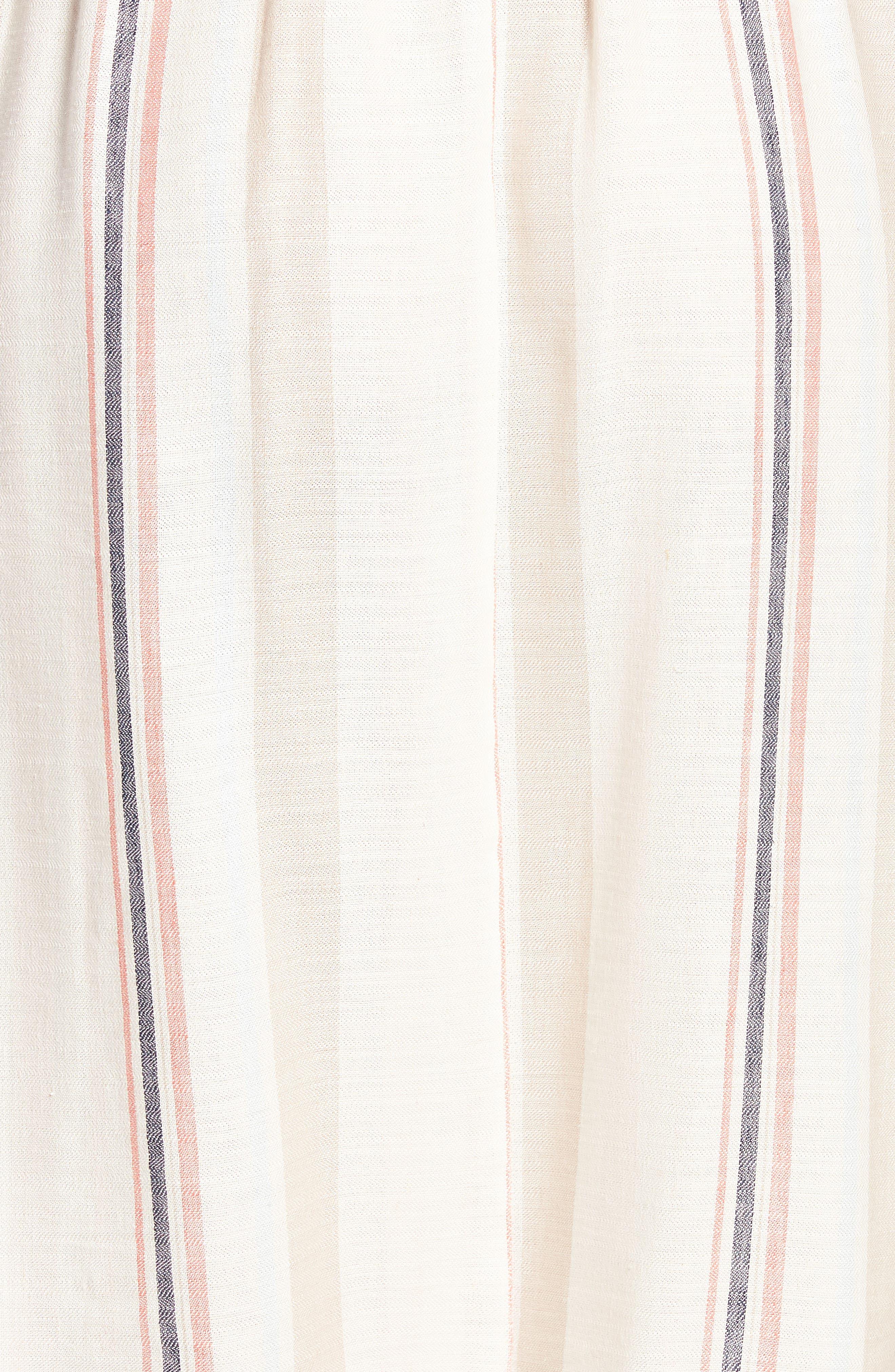 Tie Front Midi Dress,                             Alternate thumbnail 6, color,