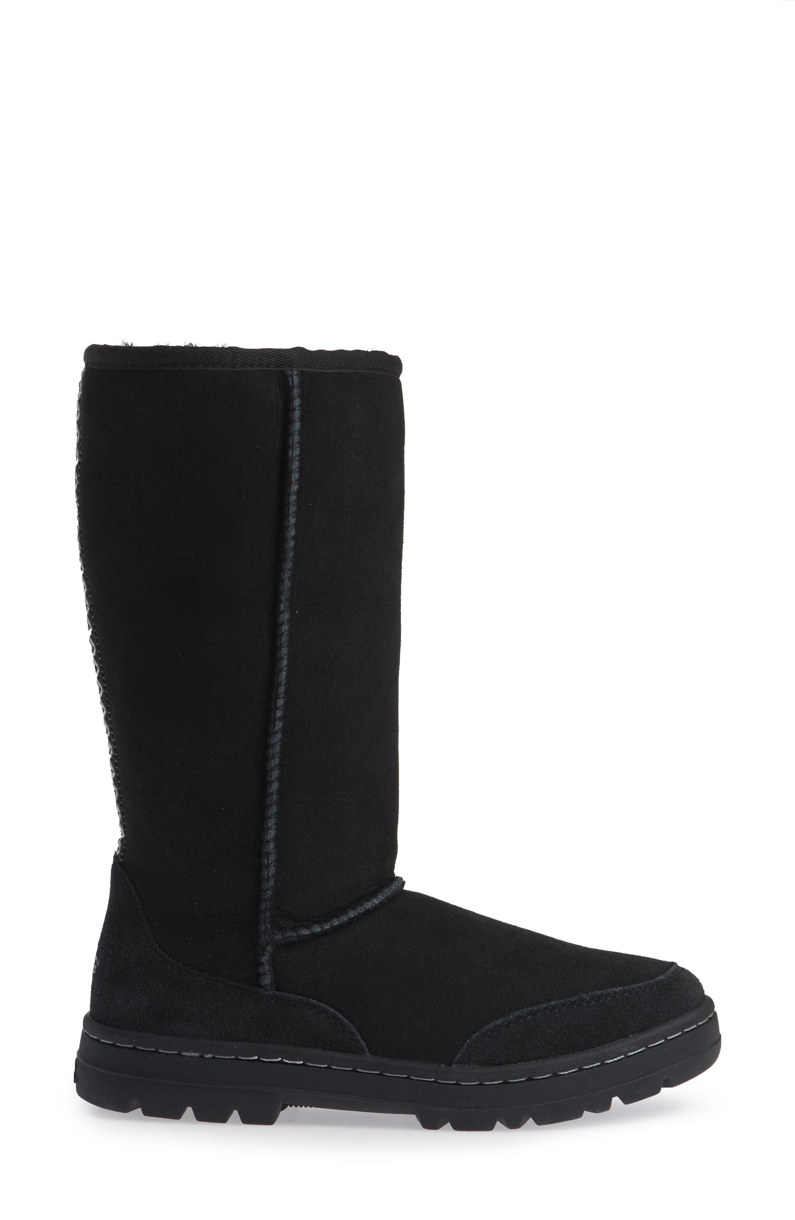 UGG<SUP>®</SUP>,                             Ultra Revival Genuine Shearling Tall Boot,                             Alternate thumbnail 3, color,                             001