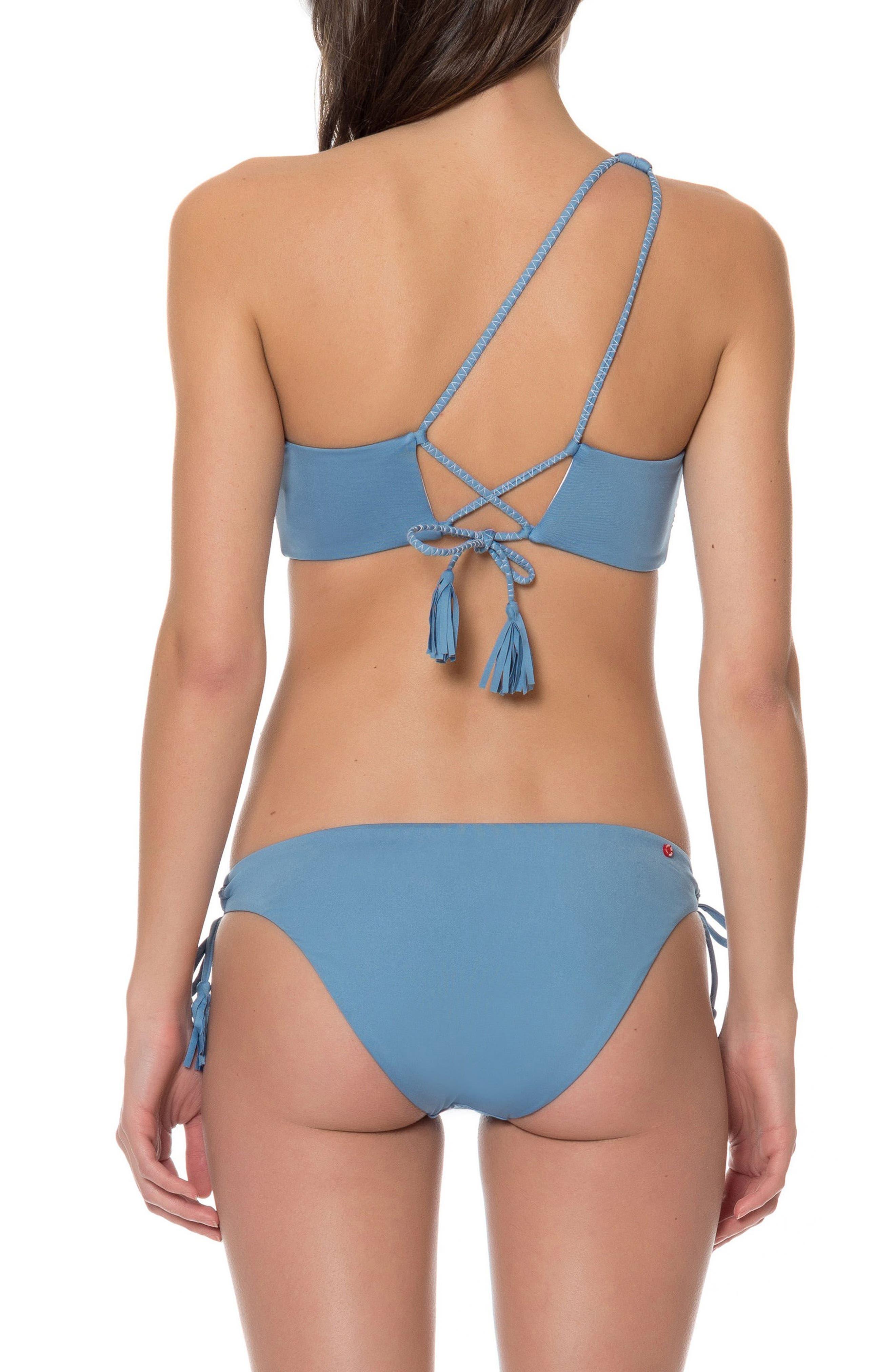 One-Shoulder Bikini Top,                             Alternate thumbnail 3, color,                             400