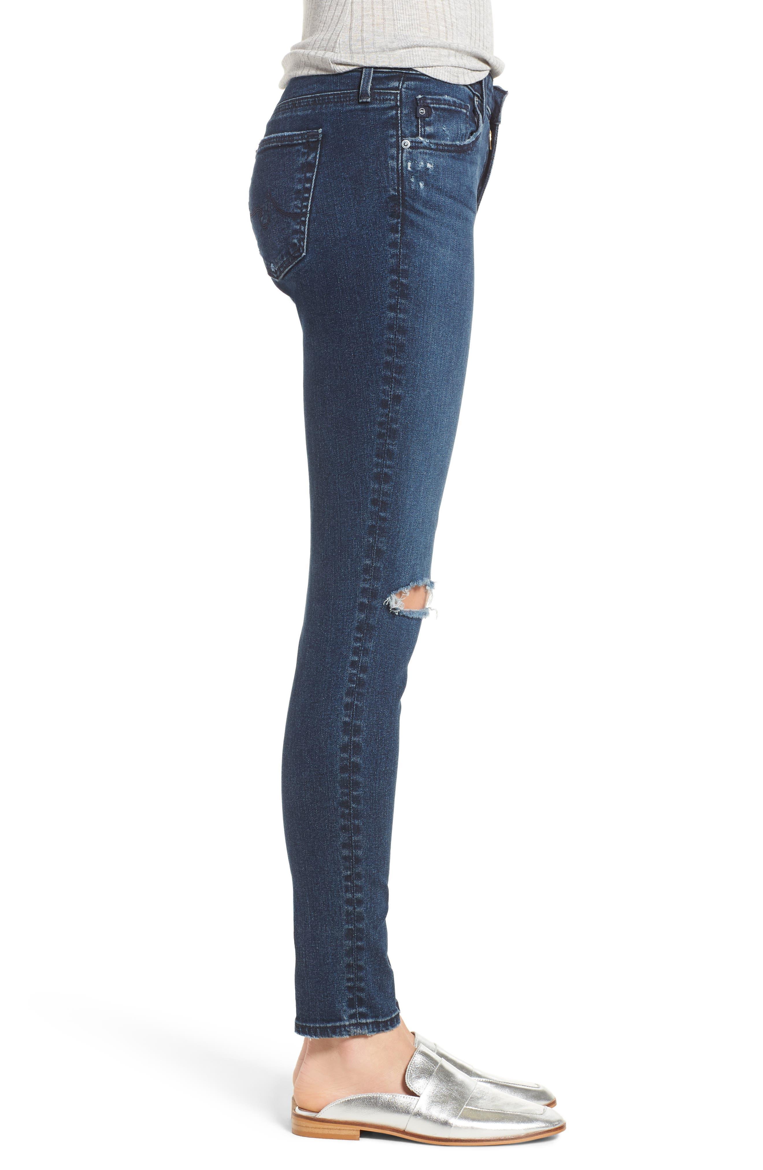 The Legging Ankle Super Skinny Jeans,                             Alternate thumbnail 3, color,                             ETHEREAL