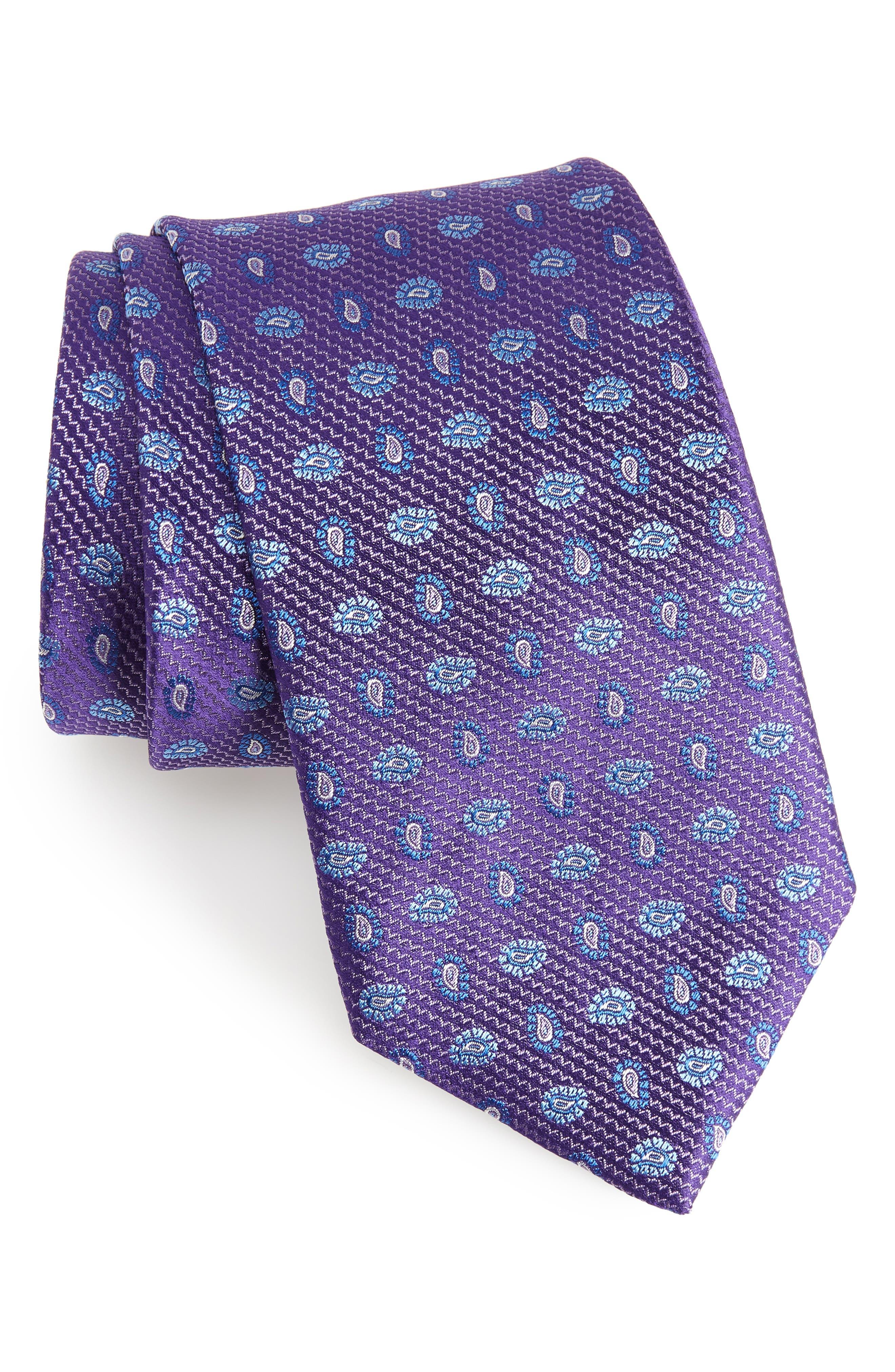 Paisley Silk Tie,                         Main,                         color, 500