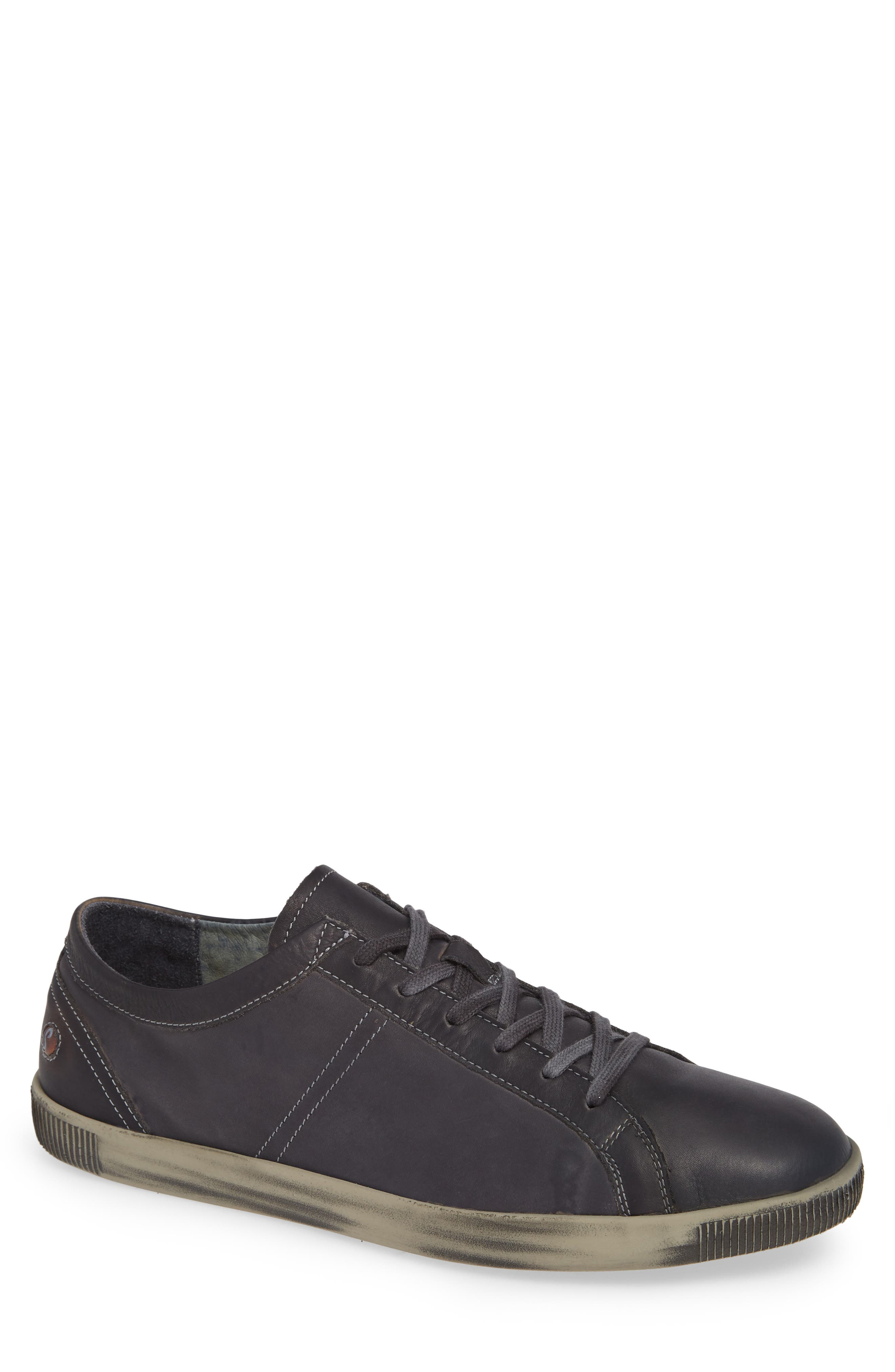 Tom Sneaker,                             Main thumbnail 1, color,                             ANTHRACITE WASHED LEATHER