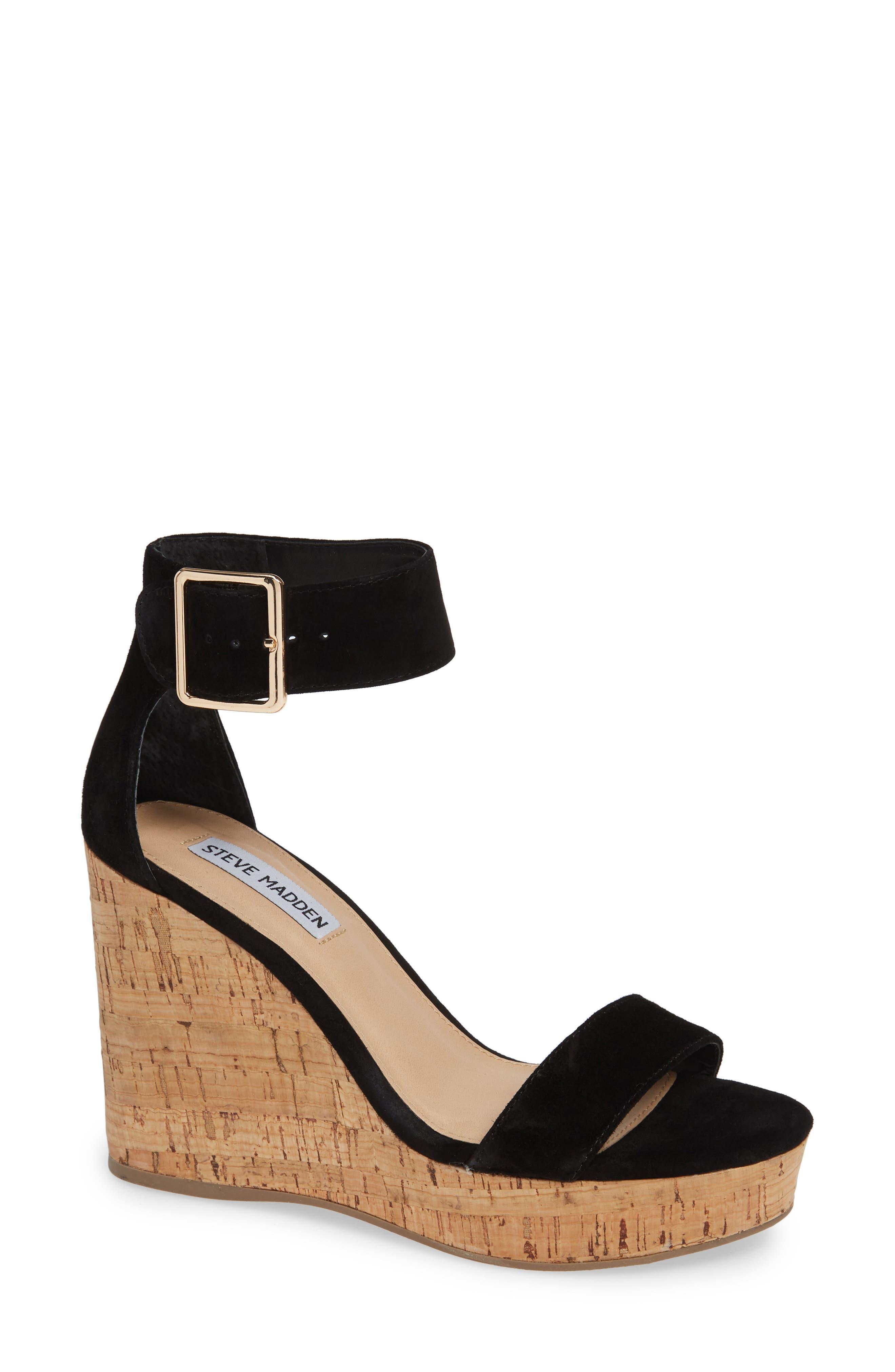 Visible Sandal,                         Main,                         color, BLACK SUEDE