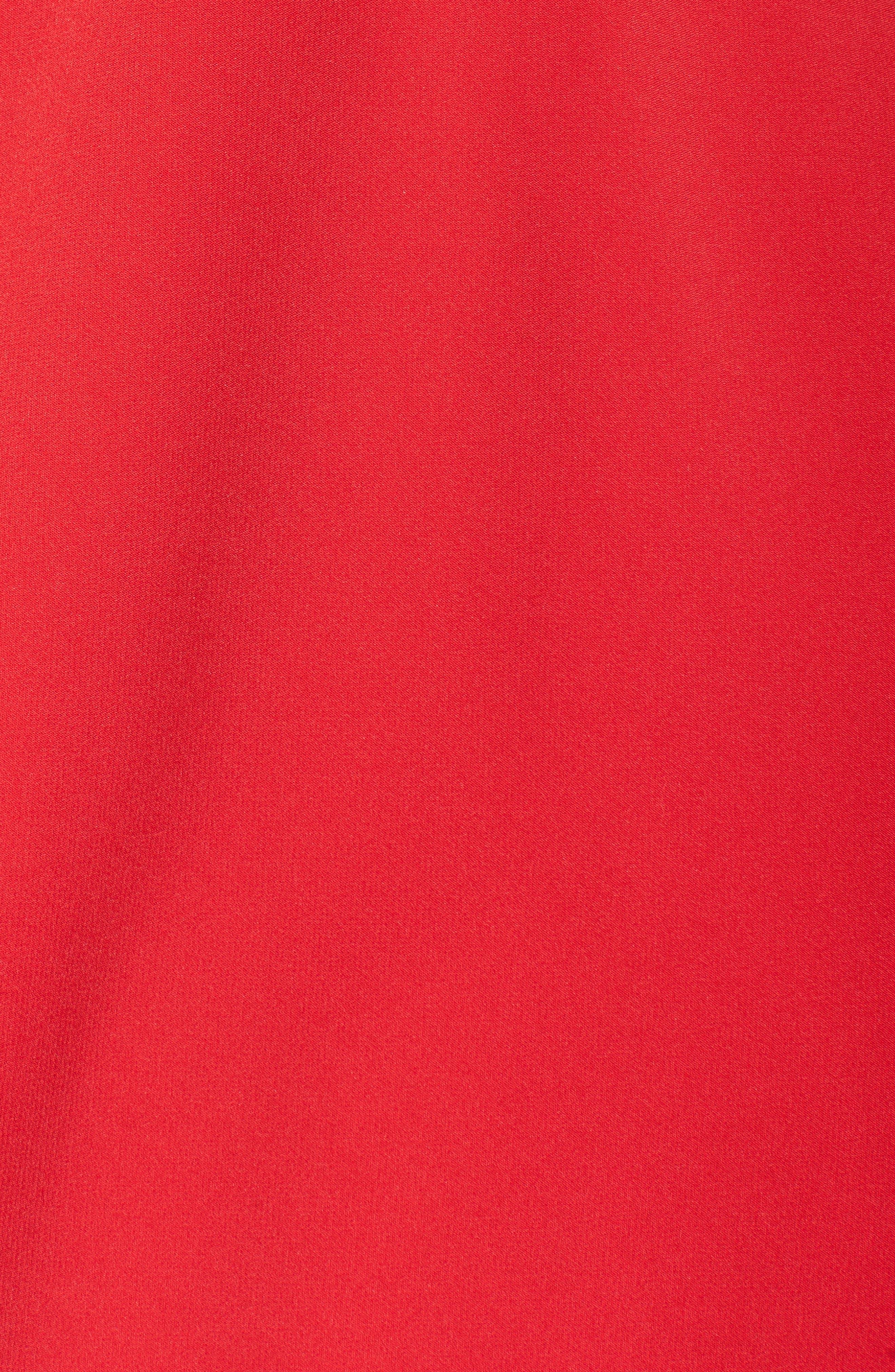 V-Neck Fit & Flare Dress,                             Alternate thumbnail 5, color,                             602