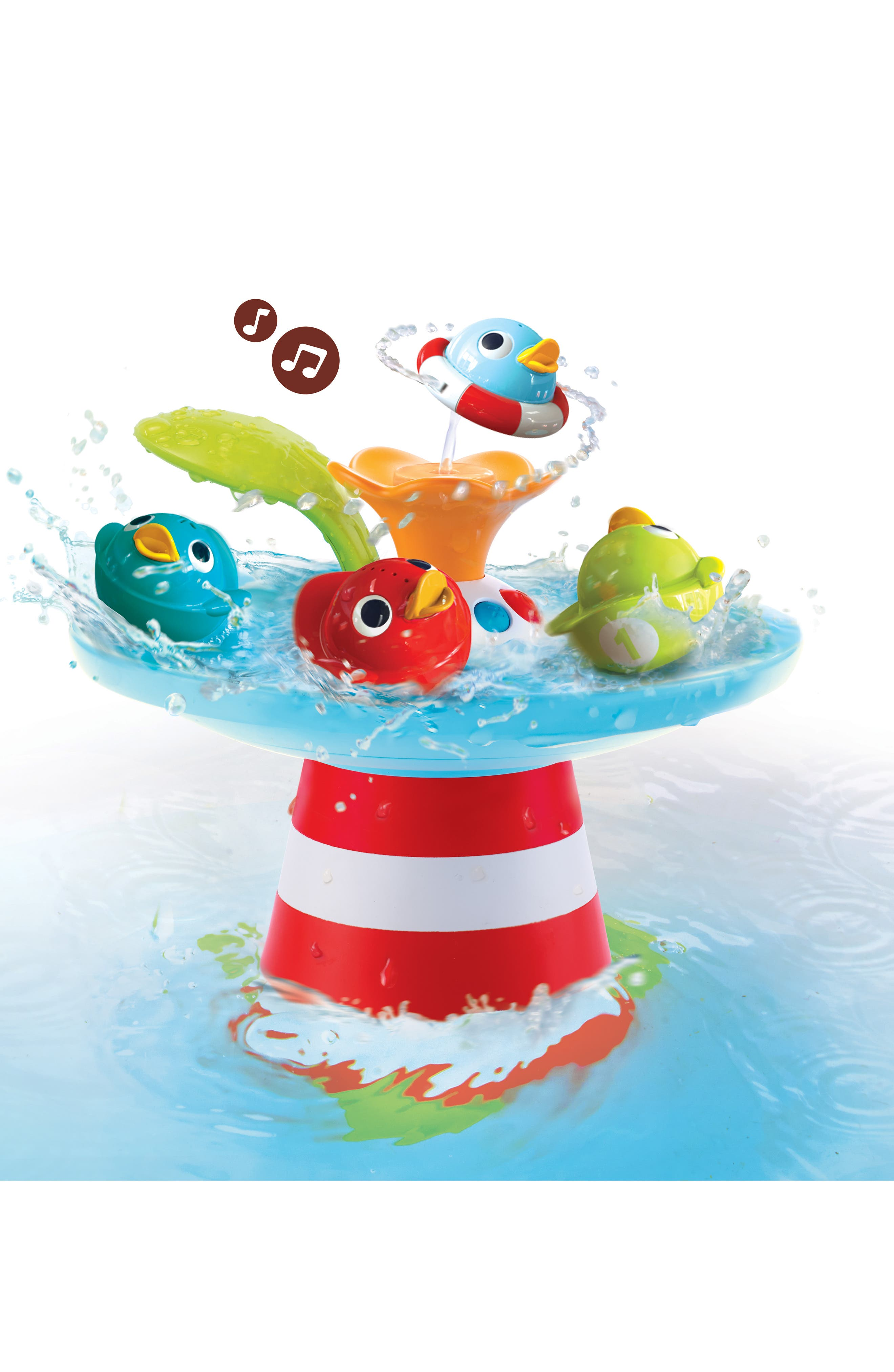 Musical Duck Race Bath Toy,                         Main,                         color, RED