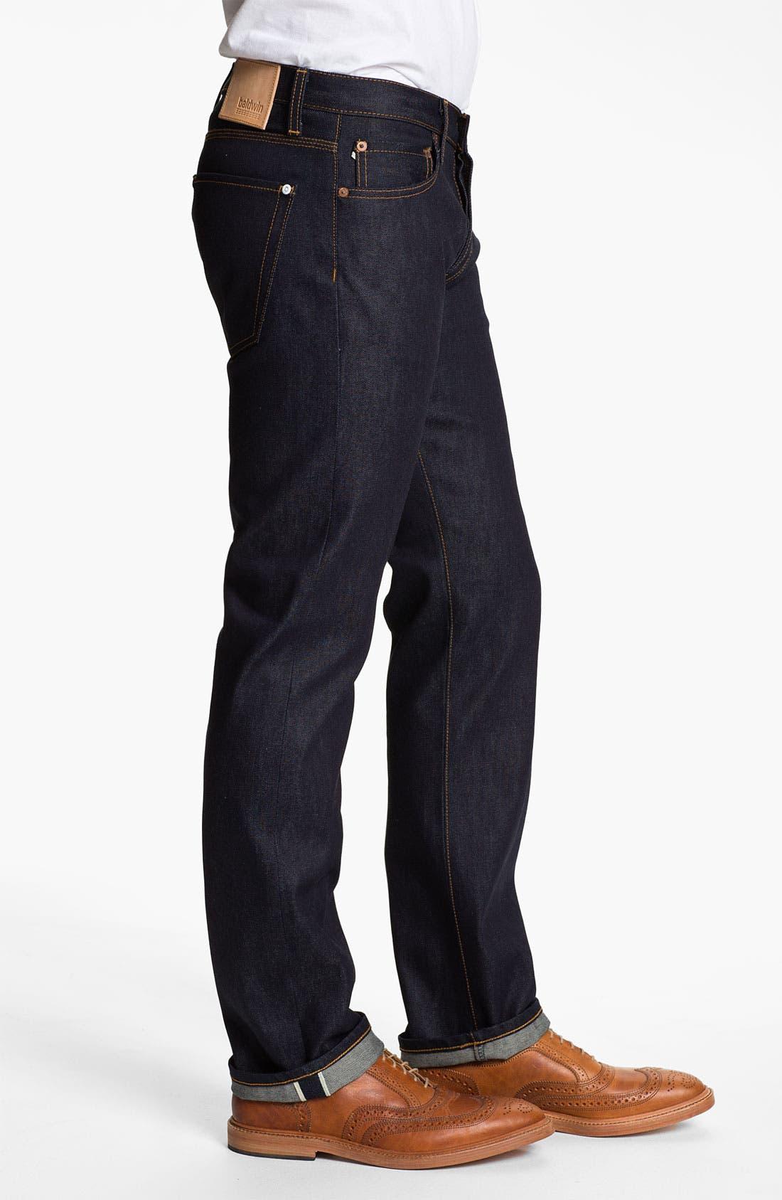 'Reed' Straight Leg Jeans,                             Alternate thumbnail 3, color,                             401