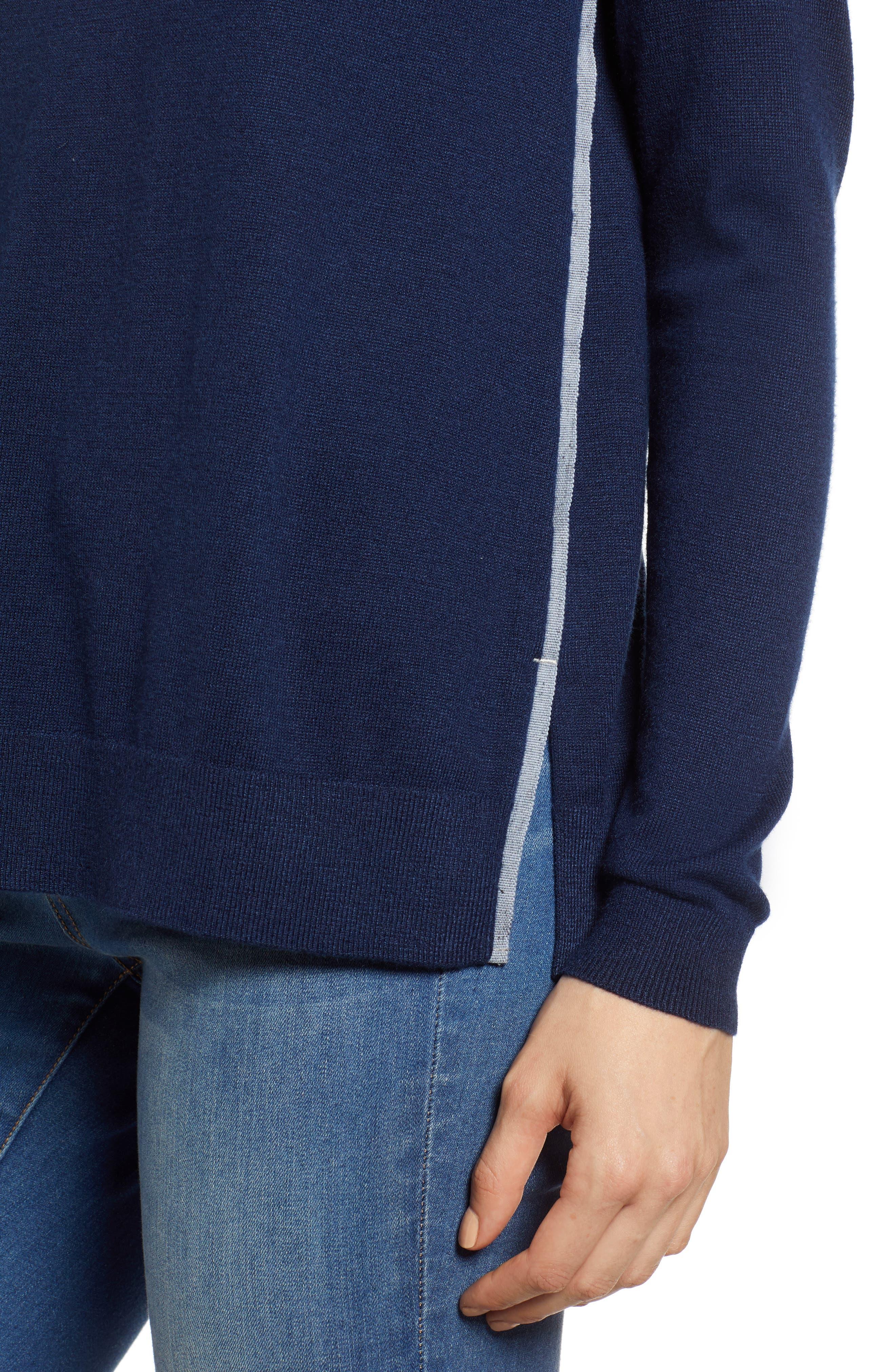 Back Zip Crewneck Sweater,                             Alternate thumbnail 4, color,                             476