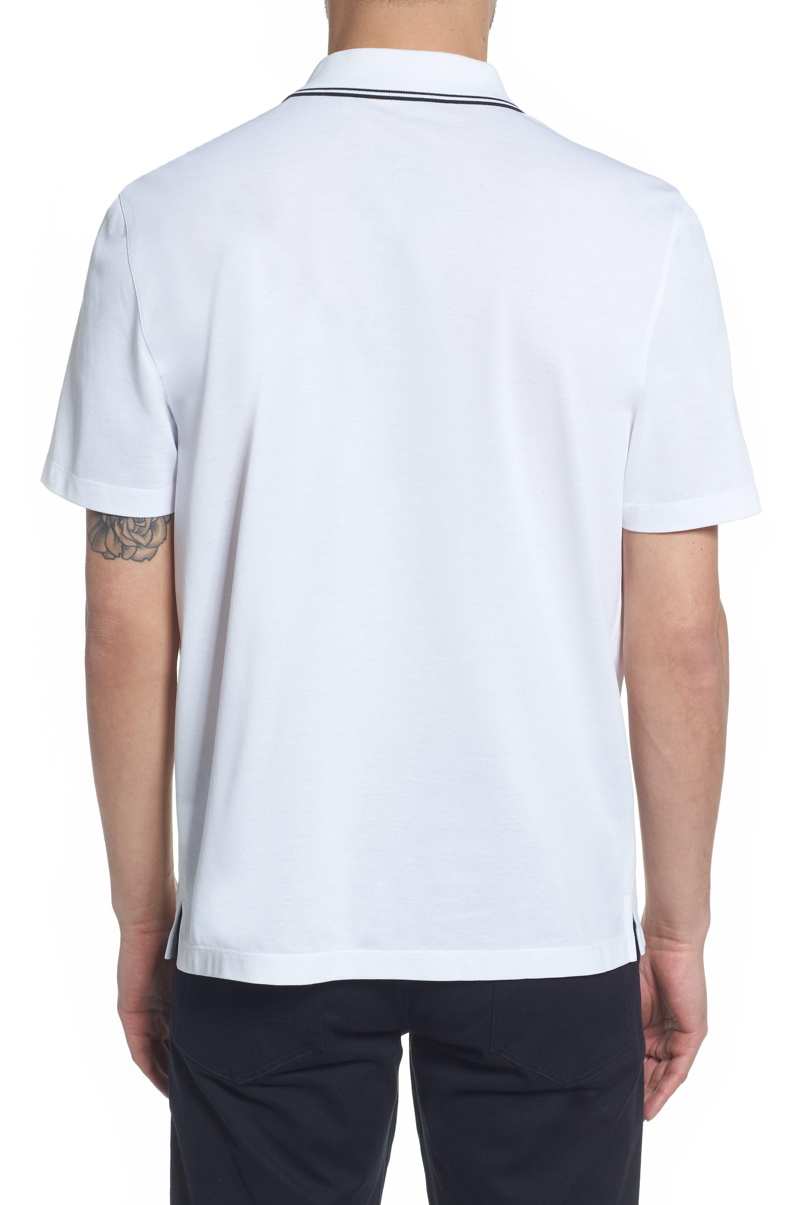 Regular Fit Polo,                             Alternate thumbnail 2, color,                             OPTIC WHITE
