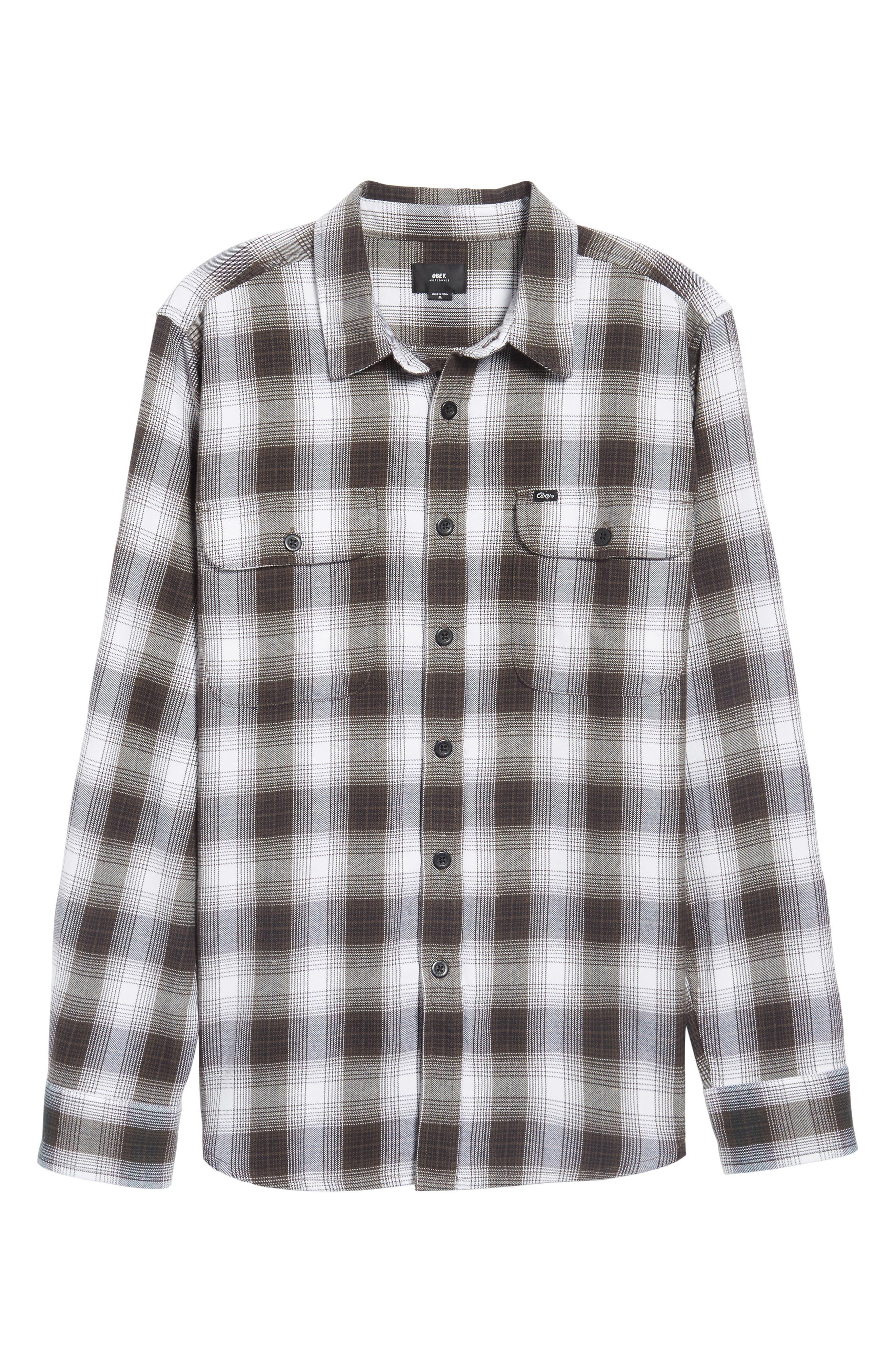 Kemper Plaid Woven Shirt,                             Alternate thumbnail 6, color,                             002