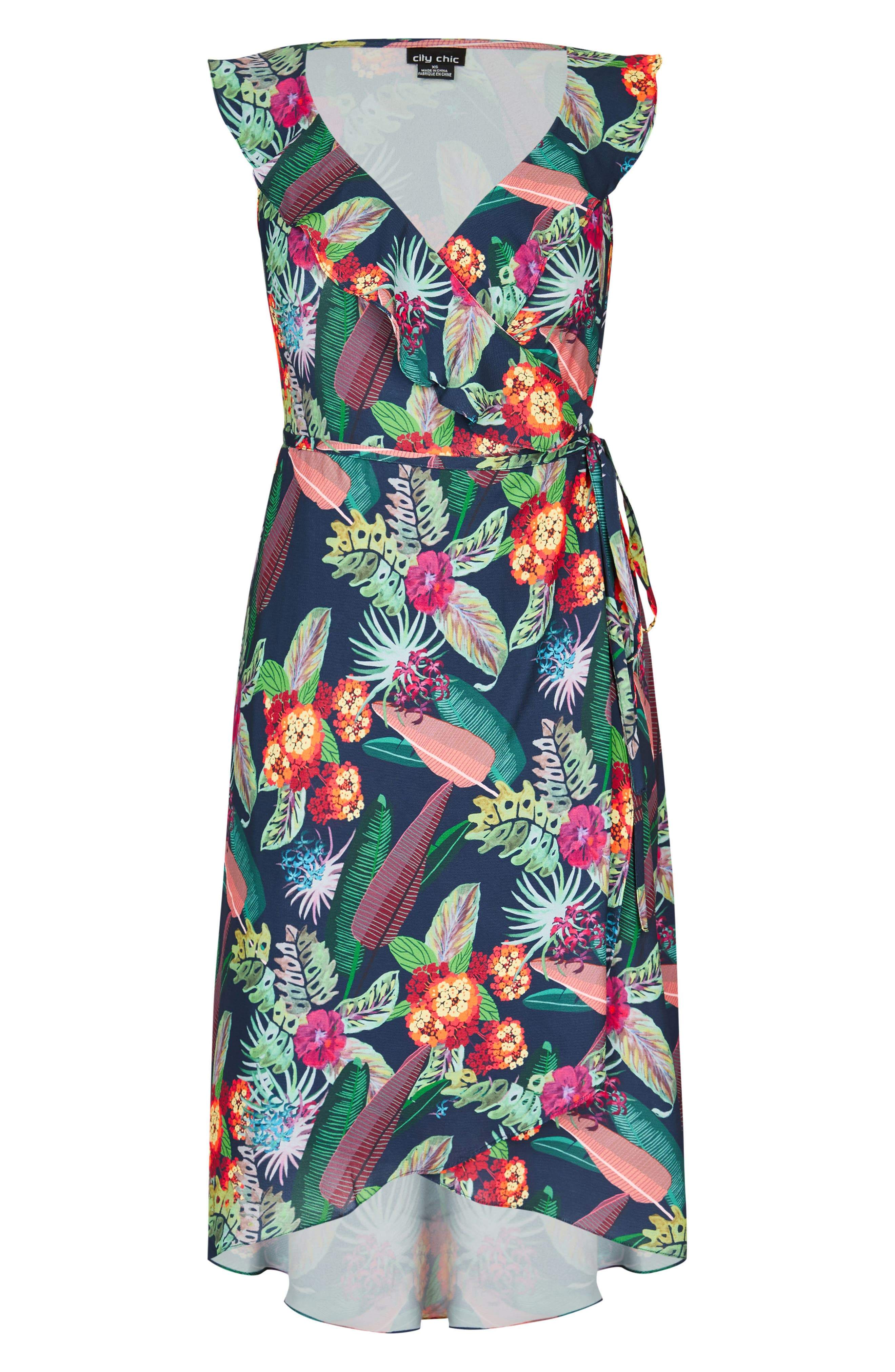 Jungle Jam High/Low Dress,                             Alternate thumbnail 3, color,                             425
