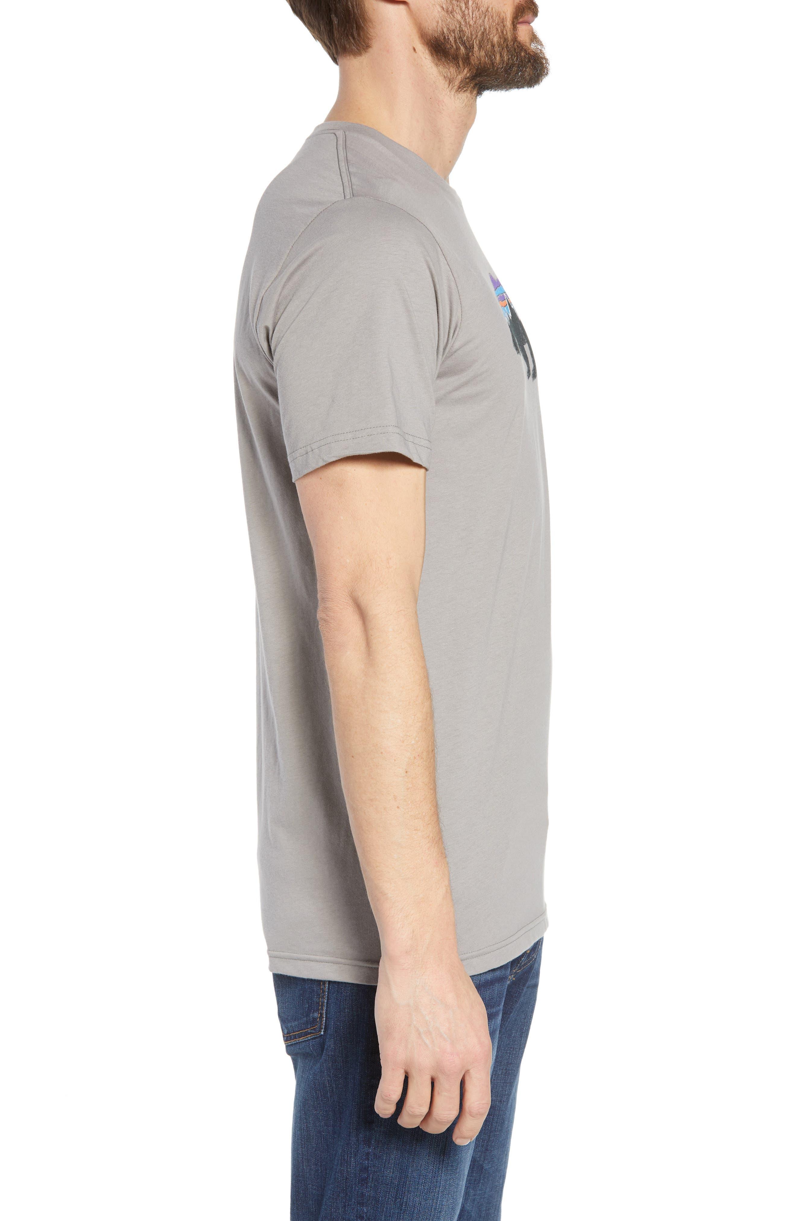 Fitz Roy Bear Crewneck T-Shirt,                             Alternate thumbnail 3, color,                             FEATHER GREY