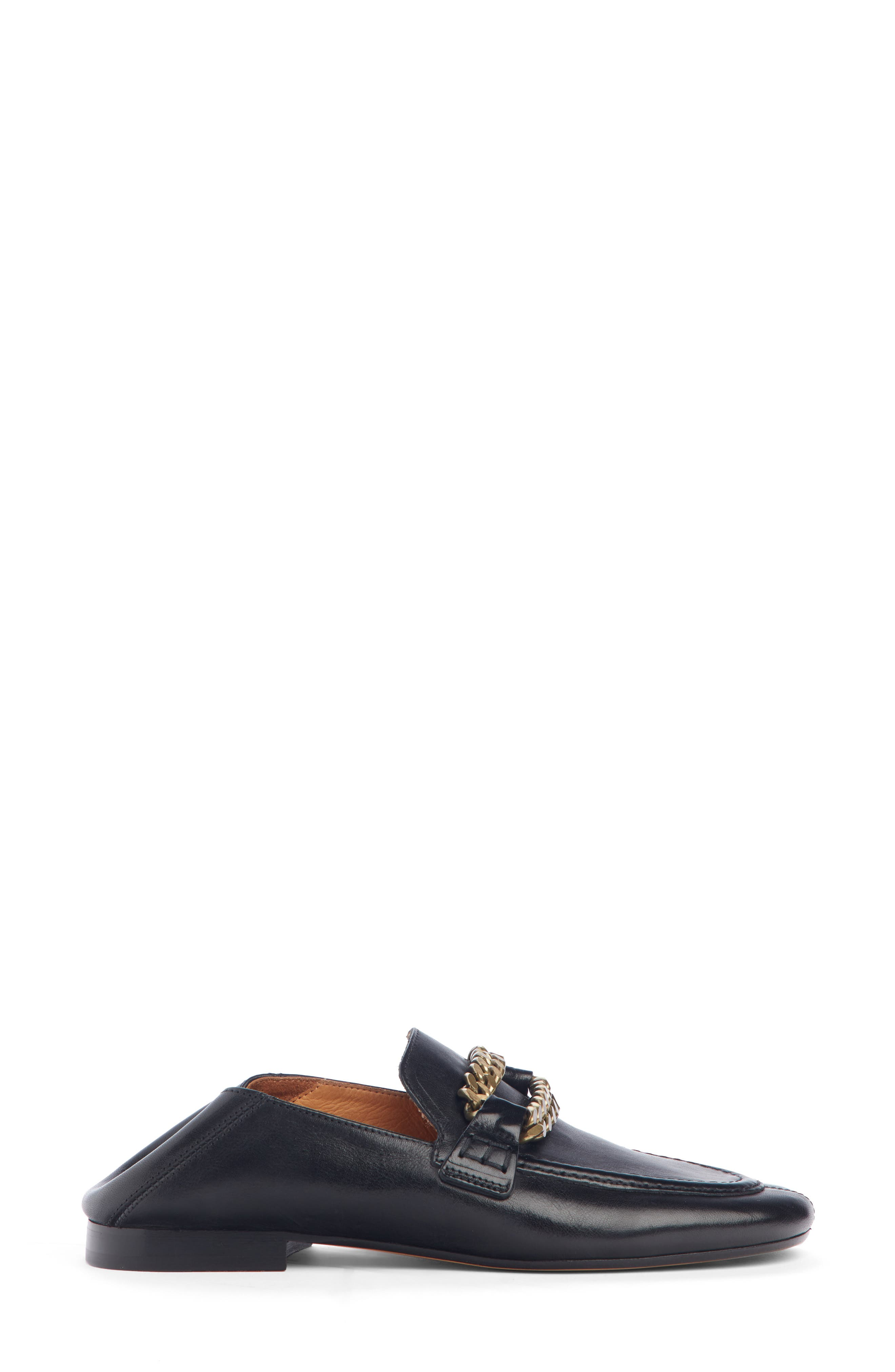 ISABEL MARANT,                             Firlee Chain Convertible Loafer,                             Alternate thumbnail 4, color,                             BLACK
