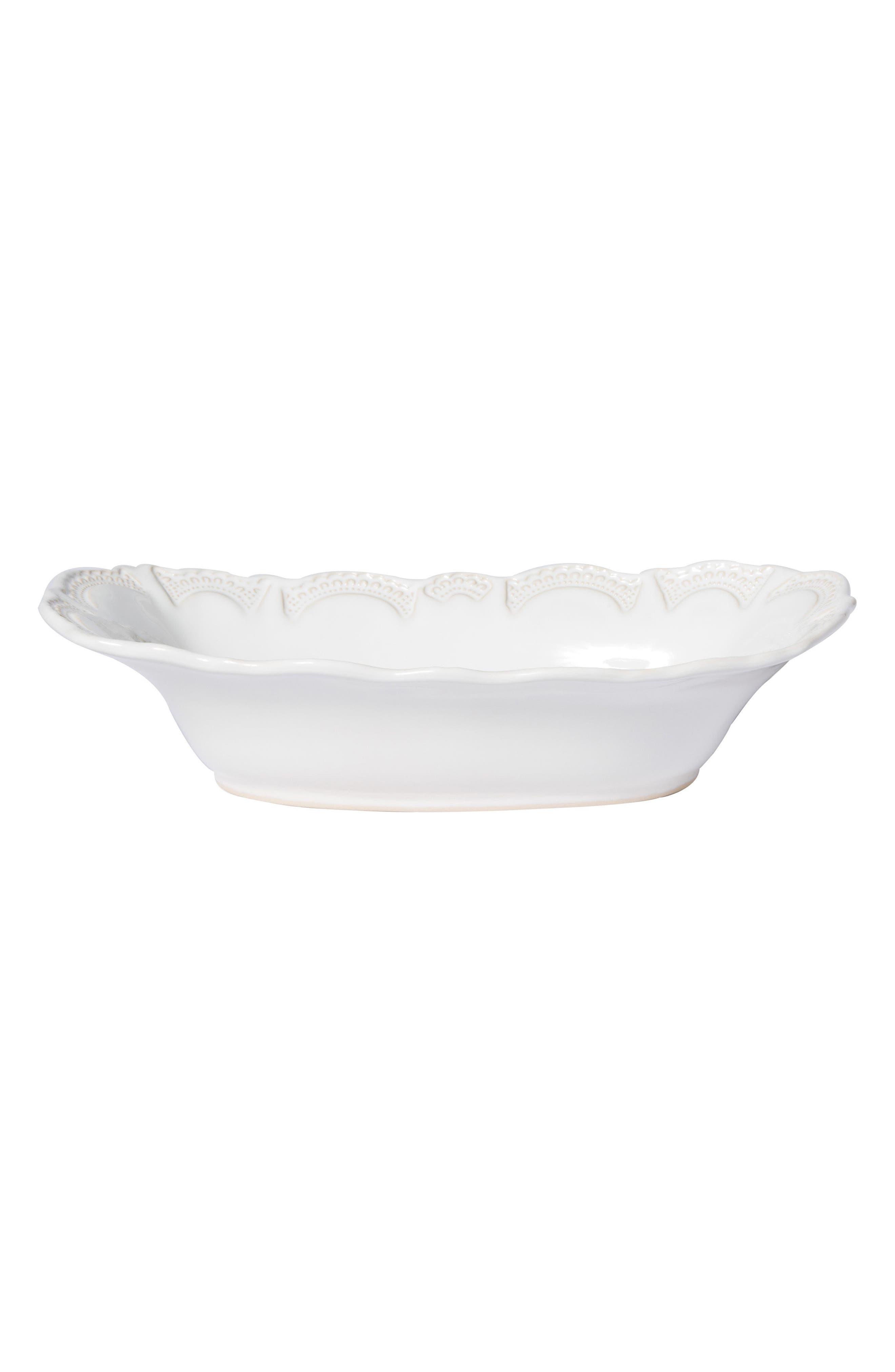 Incanto Stone Au Gratin Dish, Main, color, WHITE - LARGE