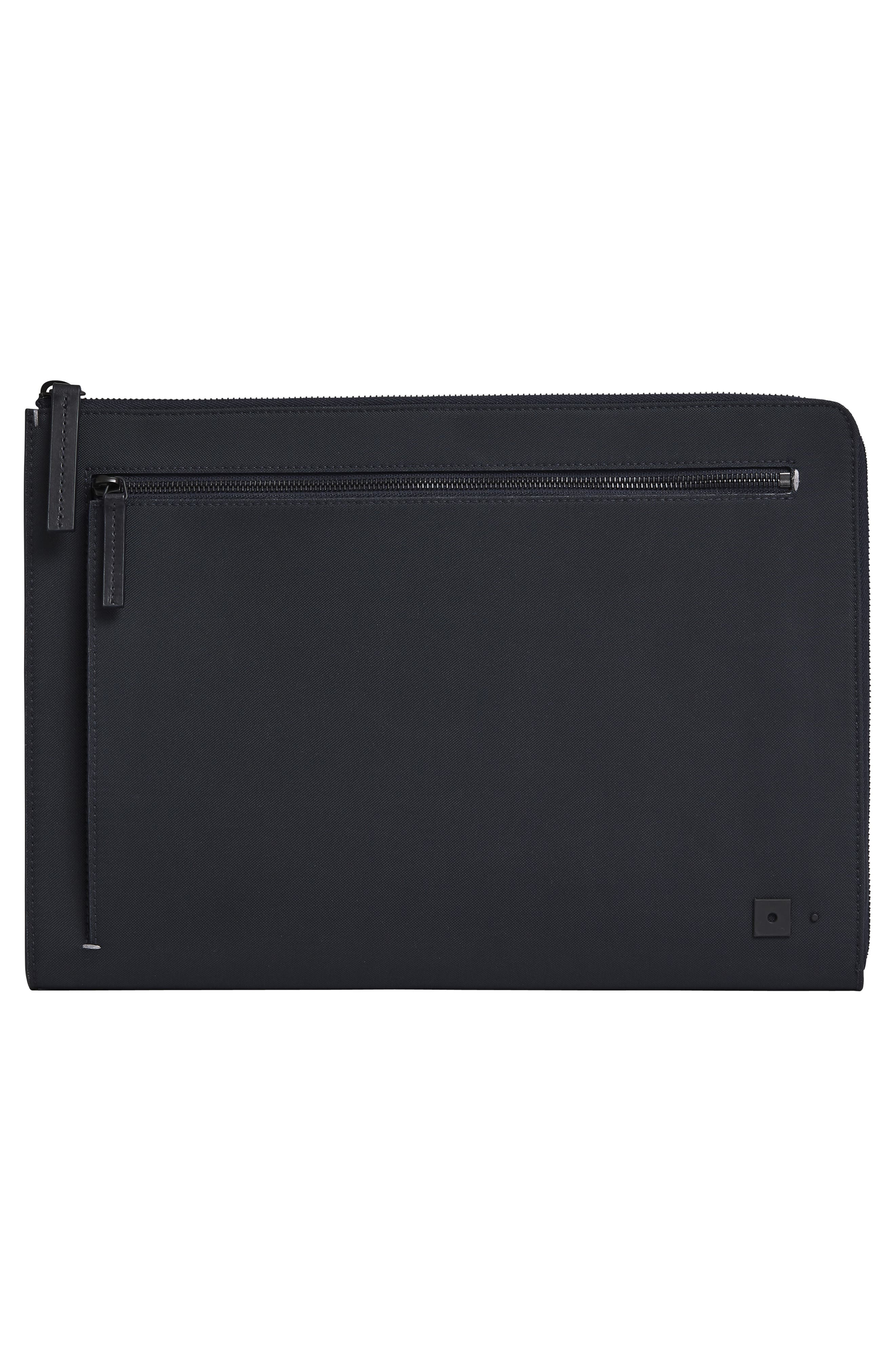 Portfolio Case,                             Alternate thumbnail 7, color,                             BLACK NYLON/ BLACK LEATHER