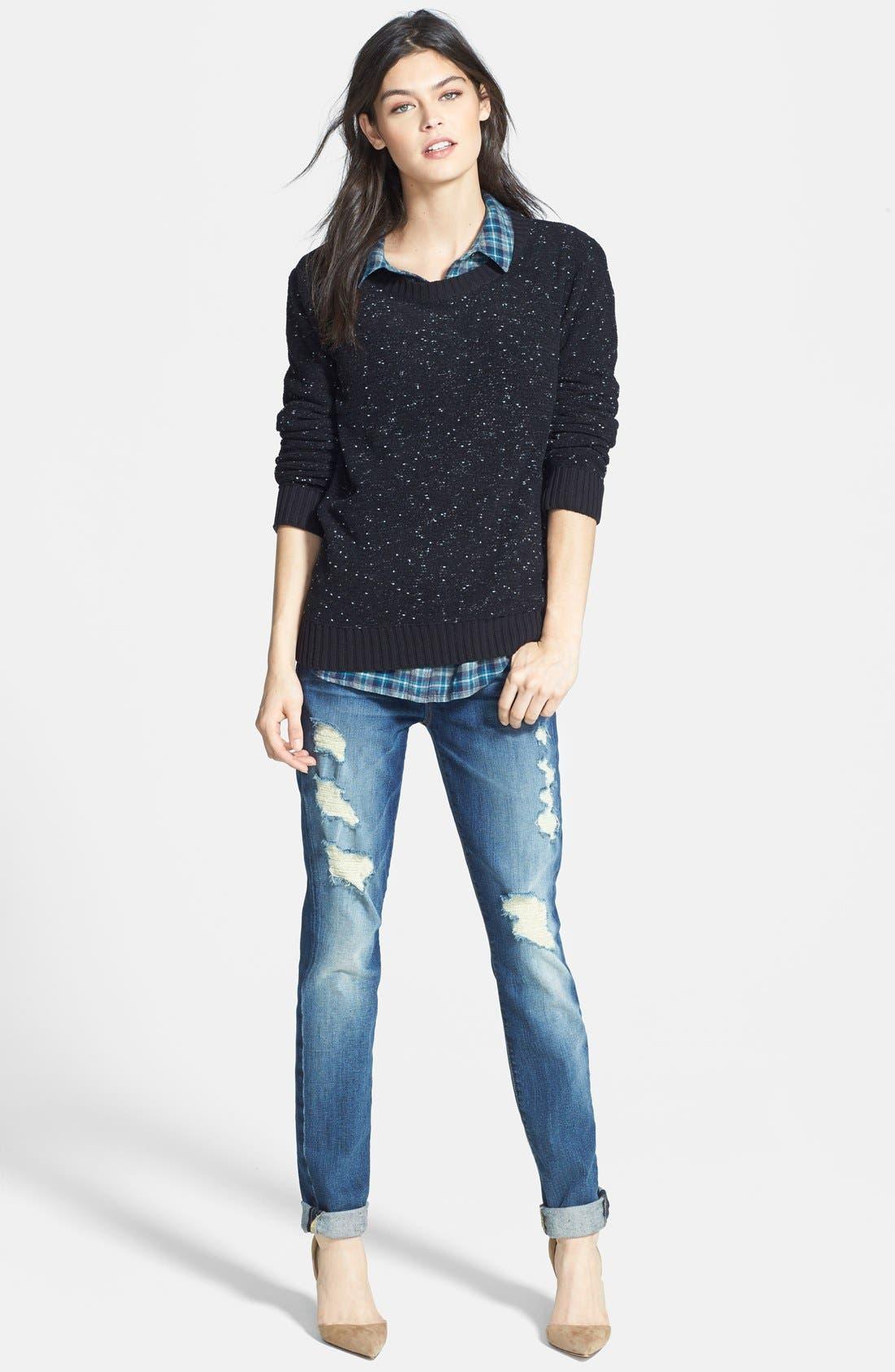Skinny Jeans,                             Alternate thumbnail 3, color,                             400