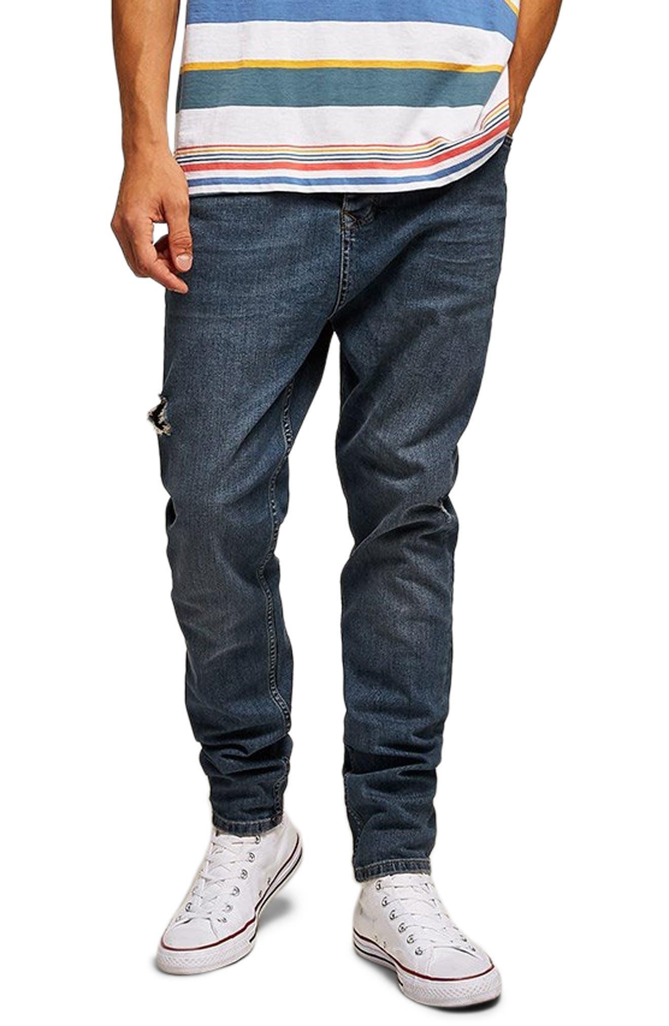 Taper Jeans,                             Alternate thumbnail 3, color,                             BLUE