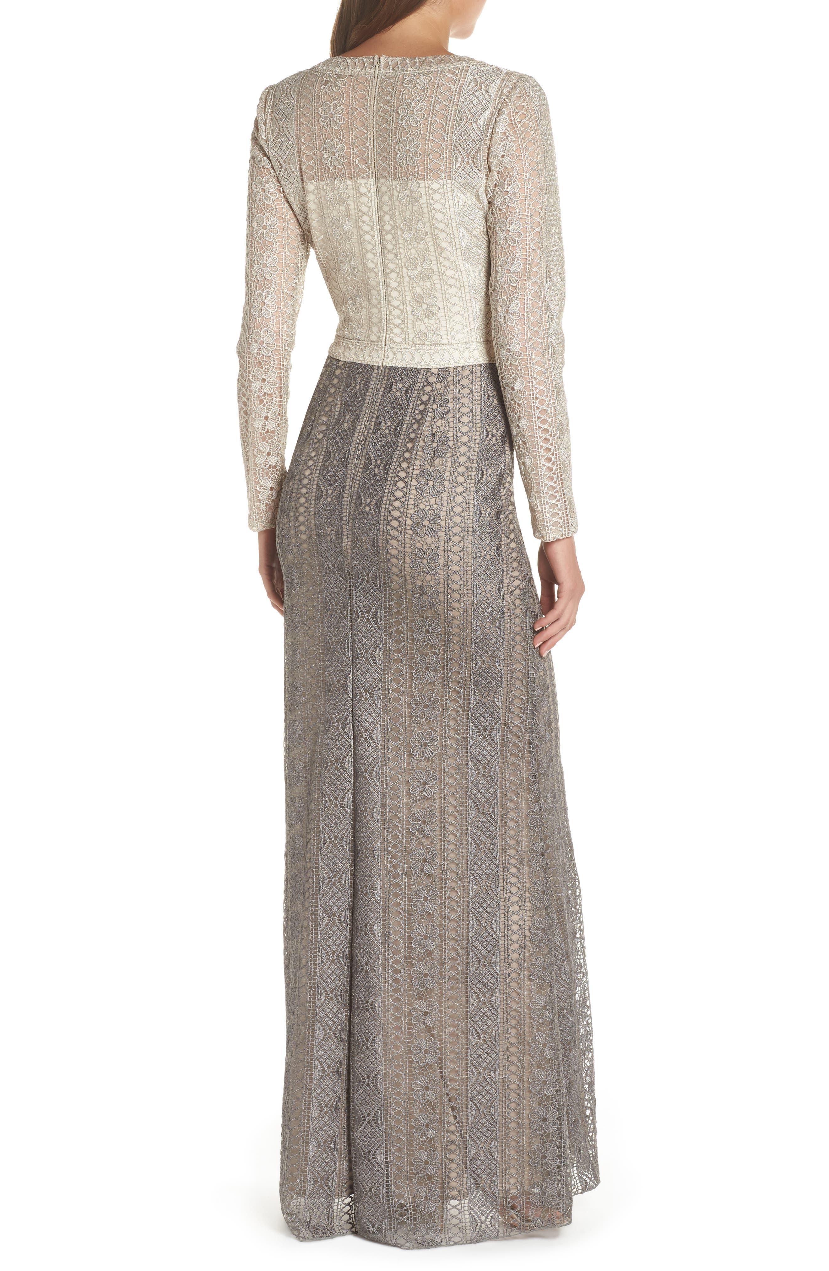 Lace Gown,                             Alternate thumbnail 2, color,                             LATTE/ SMOKE