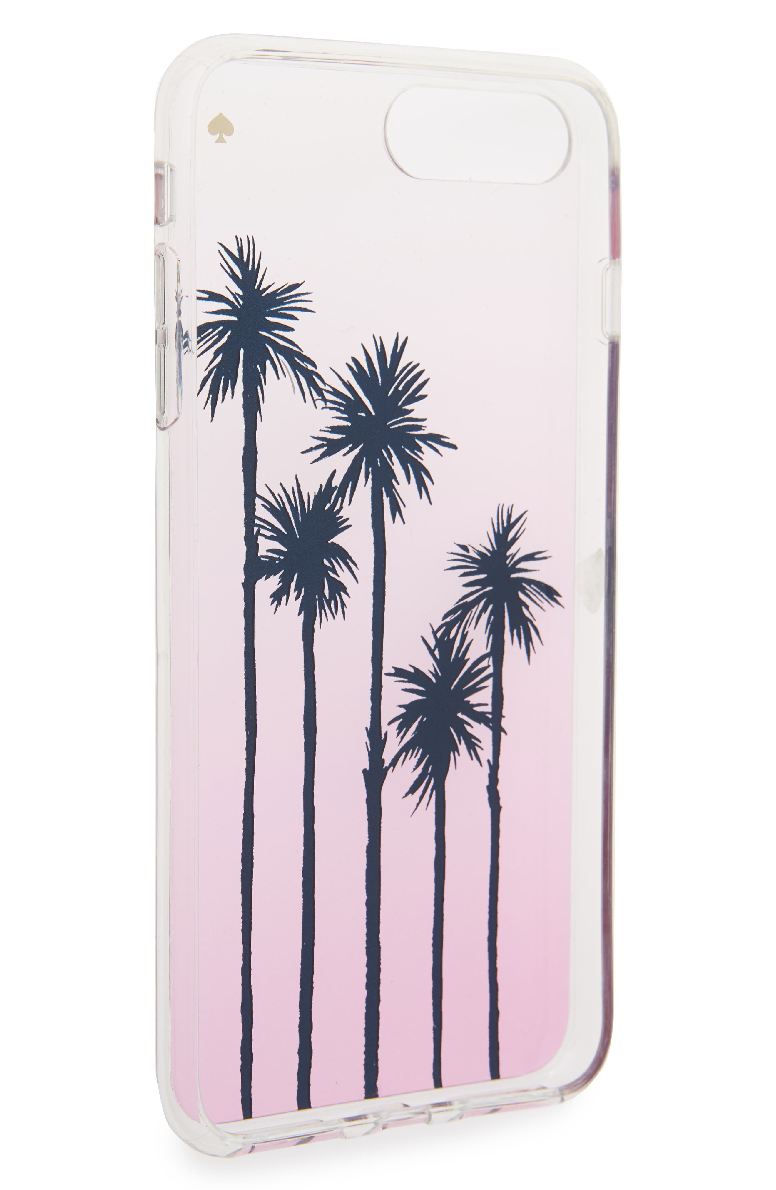 transparent palm tree ombré iPhone 7/8 & 7/8 Plus case,                             Alternate thumbnail 2, color,                             673