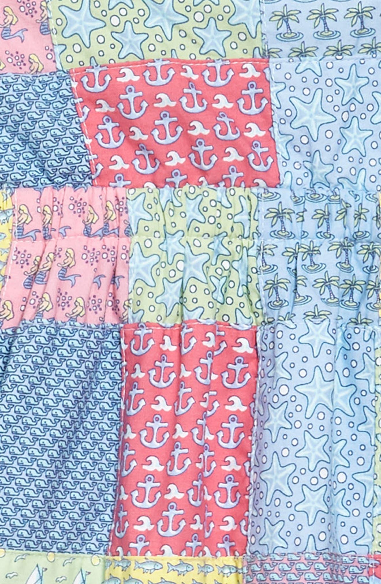 Patchwork Tie Dress,                             Alternate thumbnail 3, color,                             609