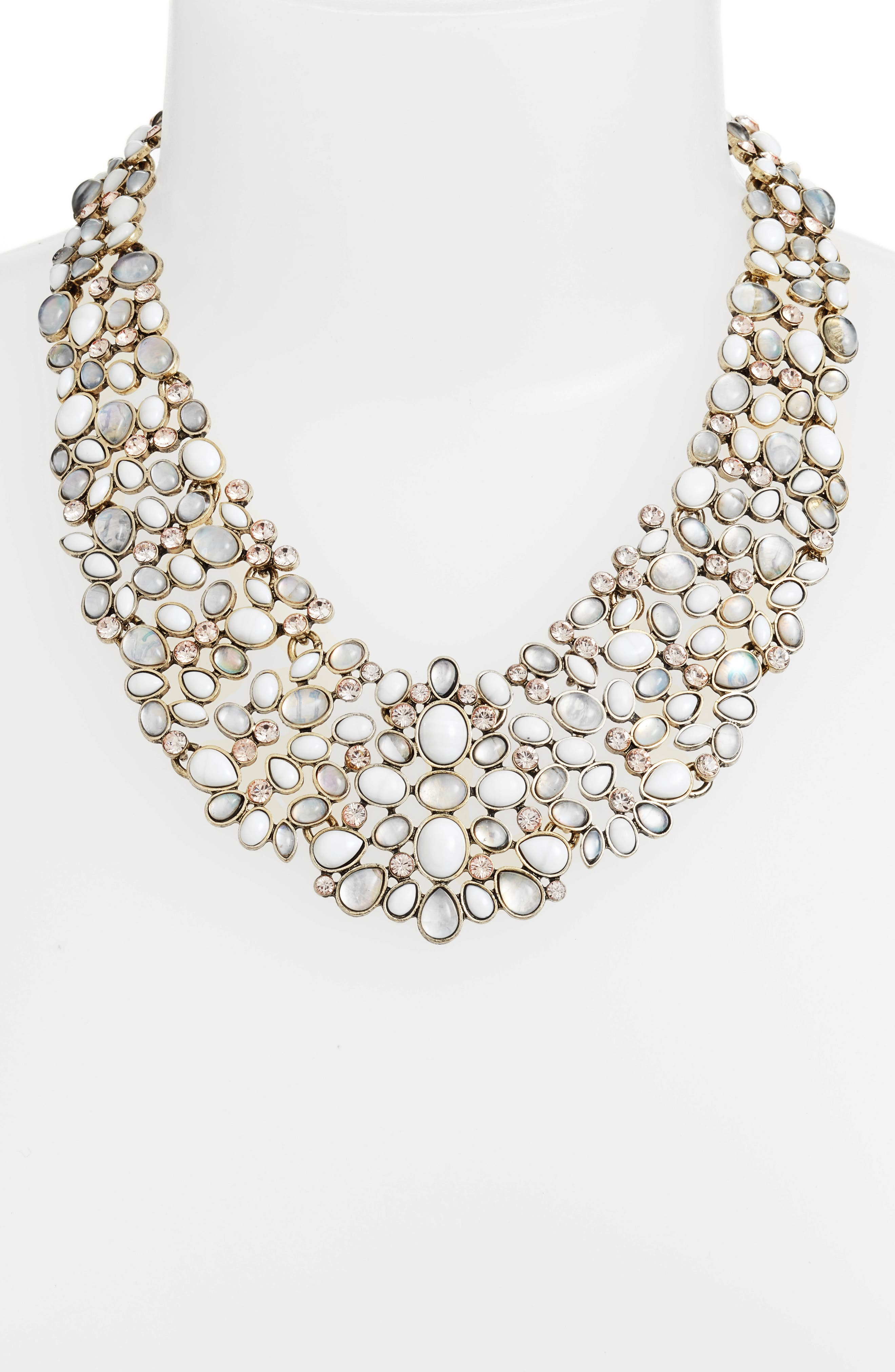 'Kew' Crystal Collar Necklace,                             Alternate thumbnail 2, color,                             101