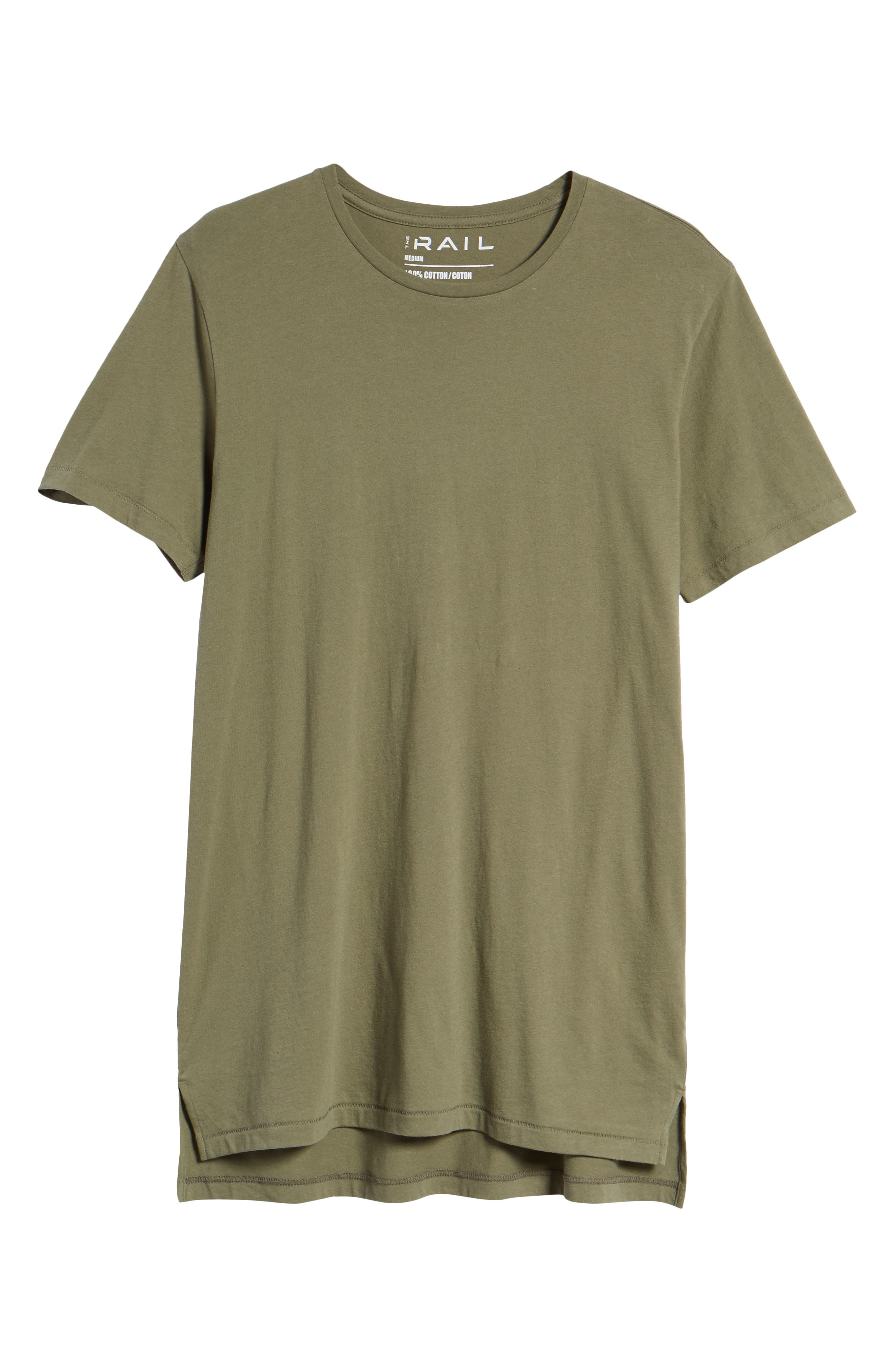 Longline T-Shirt,                             Alternate thumbnail 6, color,                             OLIVE GROVE