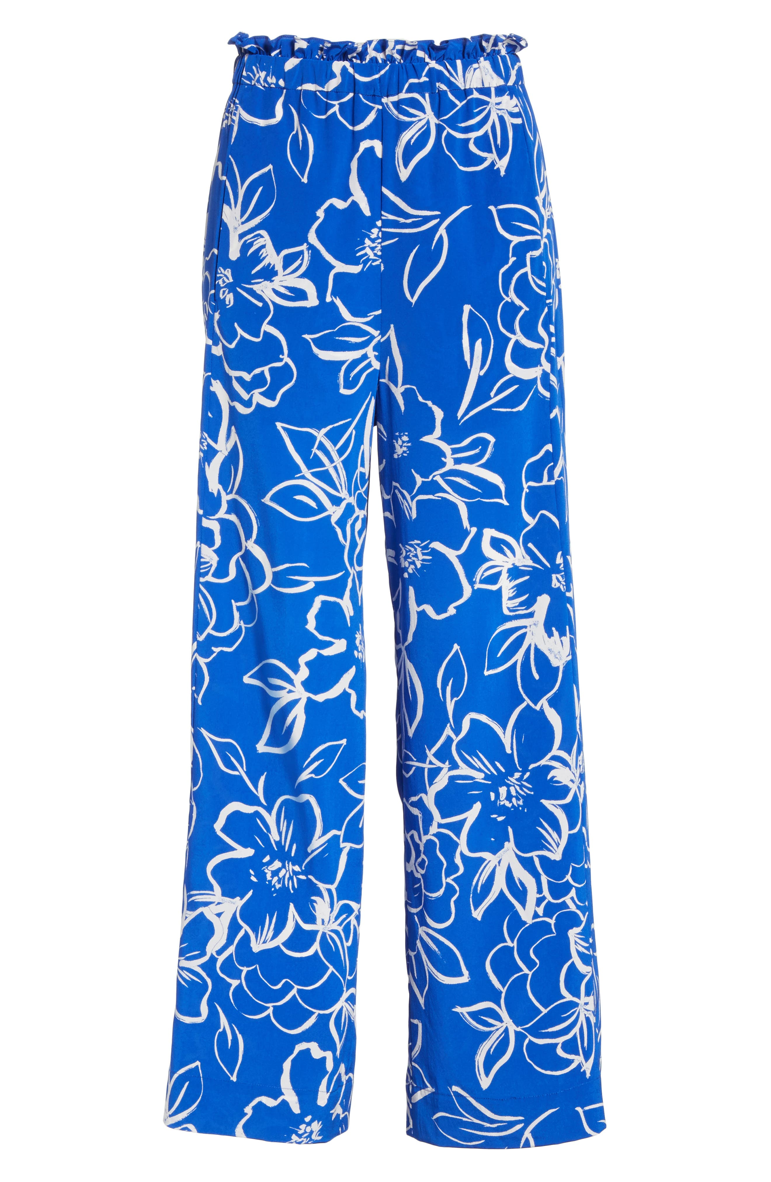 Floral Crop Pants,                             Alternate thumbnail 6, color,                             406