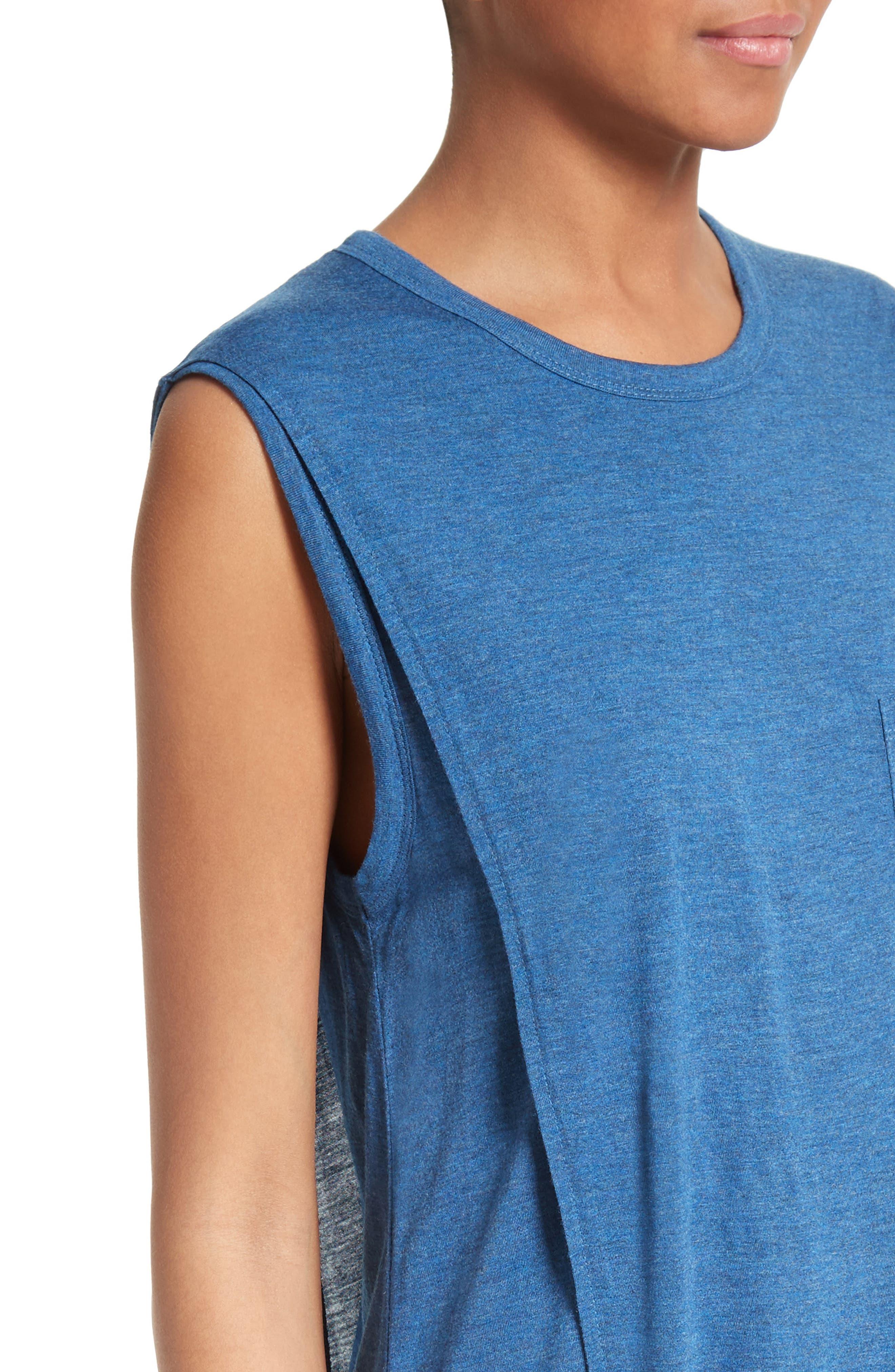 Overlap T-Shirt Dress,                             Alternate thumbnail 4, color,