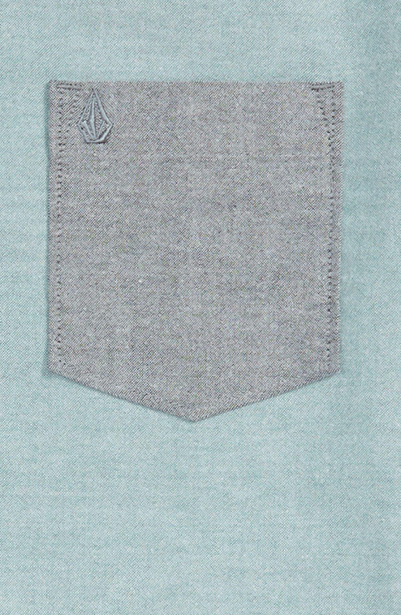 Everett Woven Shirt,                             Alternate thumbnail 2, color,                             BLUE