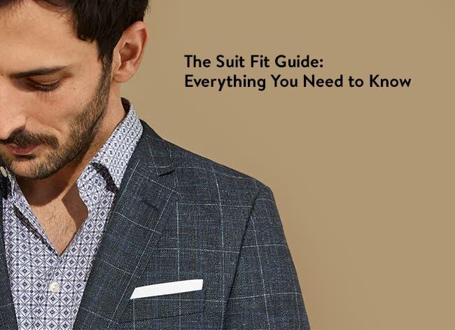 Suit fit guide.