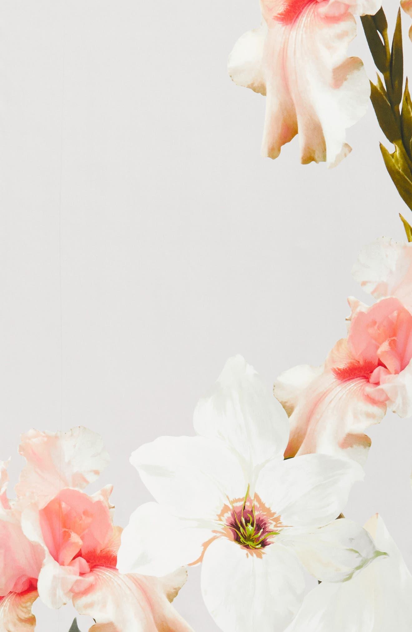 Chatsworth Blossom Silk Scarf,                             Alternate thumbnail 4, color,