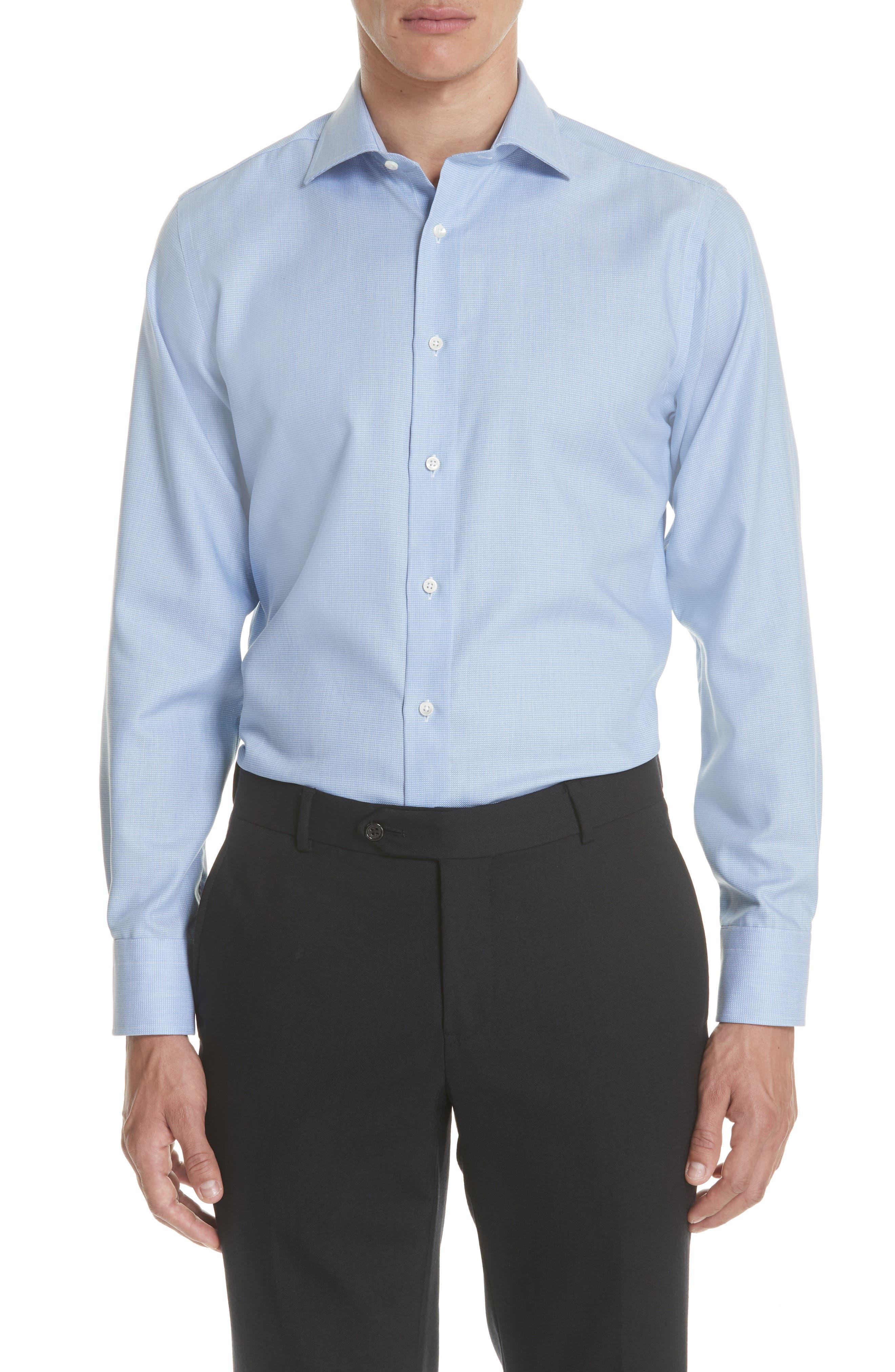 Regular Fit Solid Dress Shirt,                             Main thumbnail 1, color,