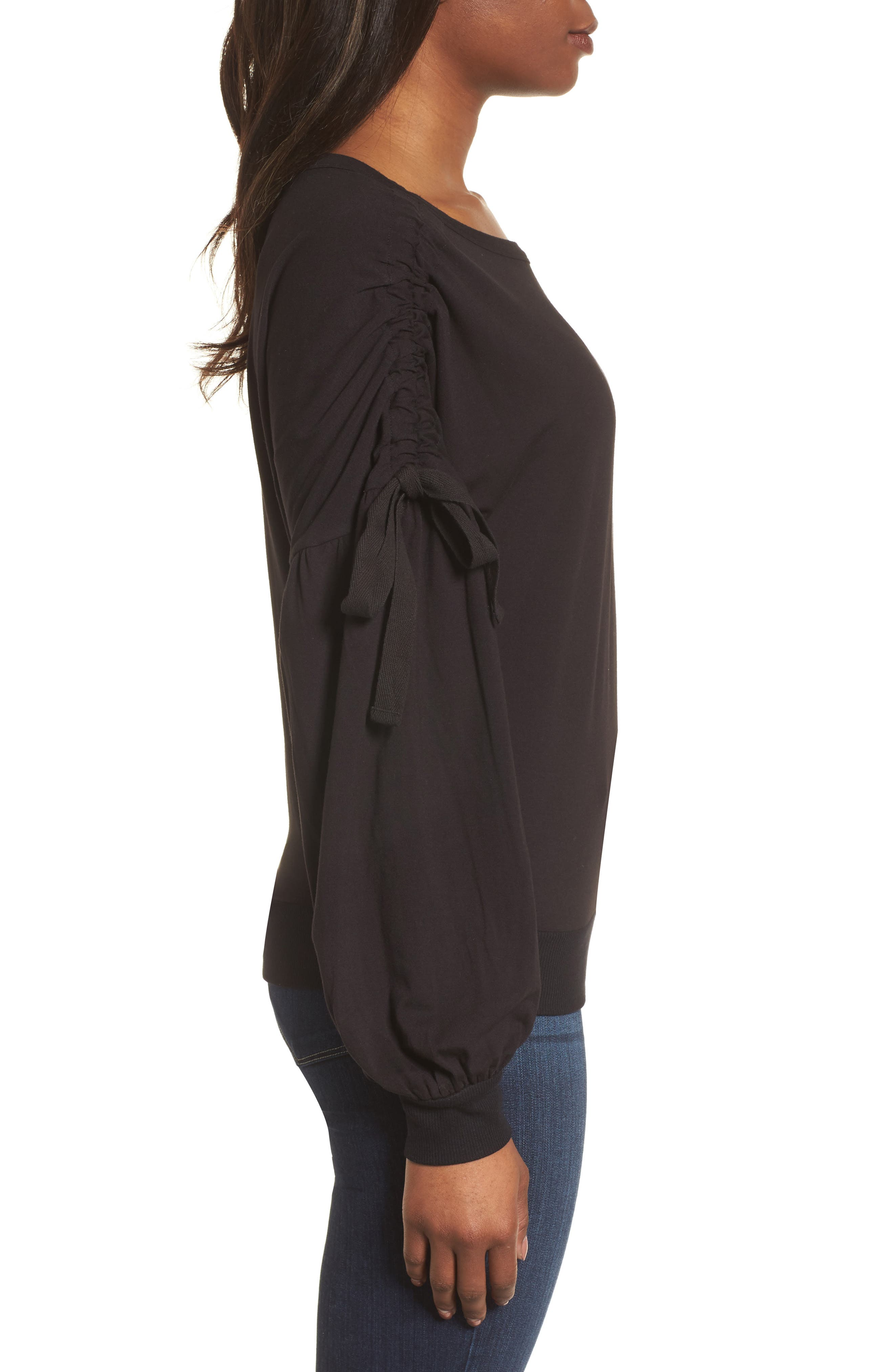 Ruched Bow Sleeve Top,                             Alternate thumbnail 9, color,