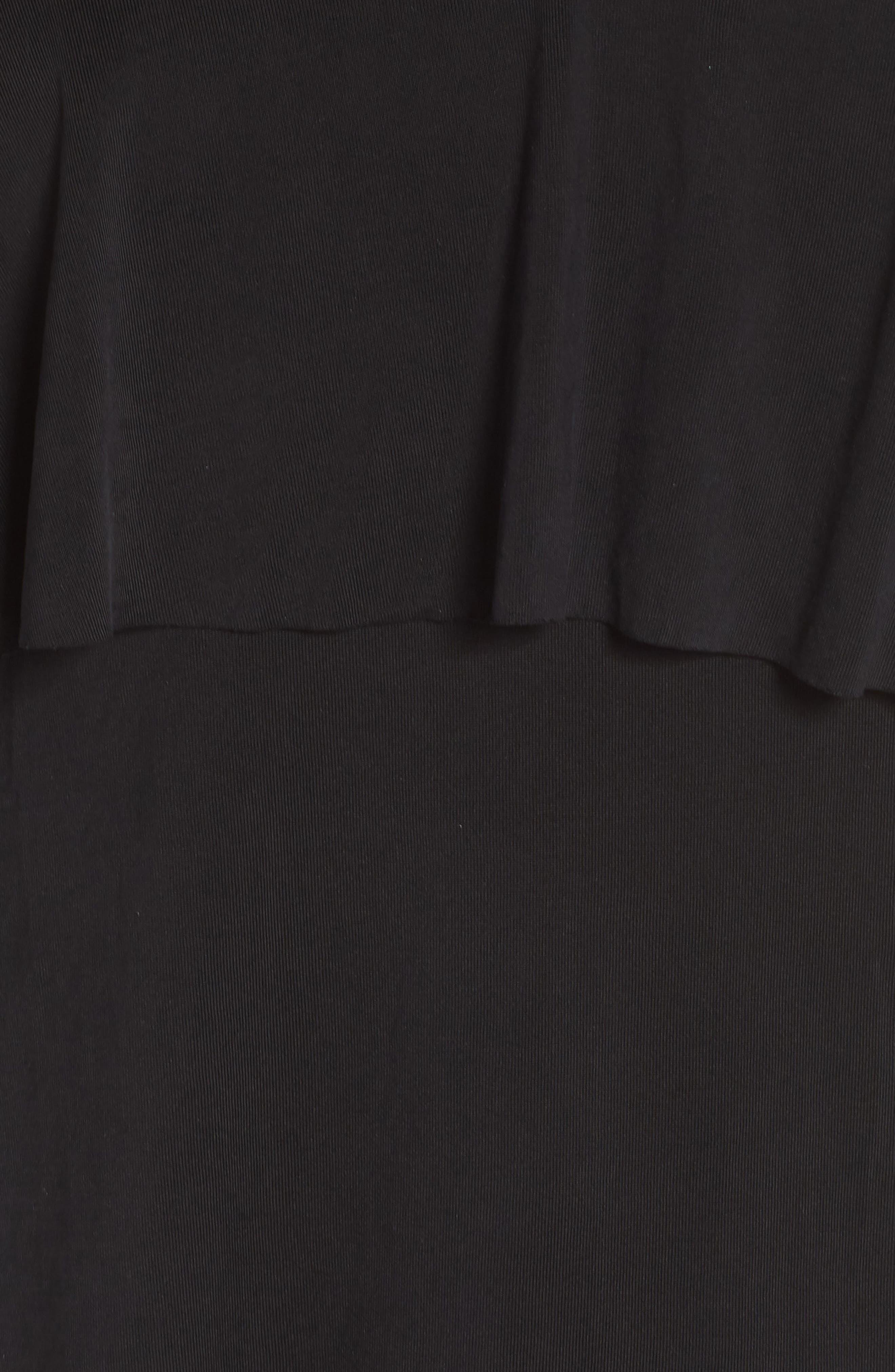North Sleeveless Ruffle Top,                             Alternate thumbnail 5, color,                             BLACK