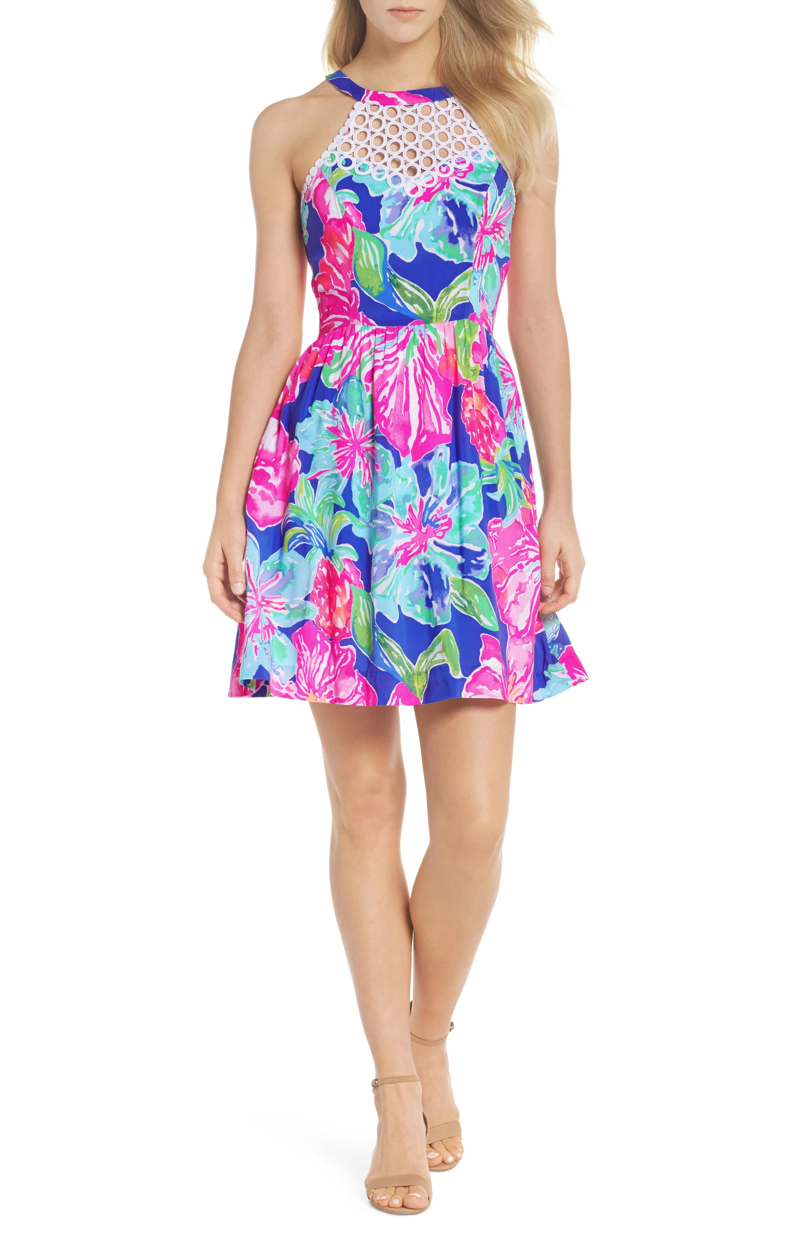 Lilly Pulitzer Kinley Halter Dress, Purple