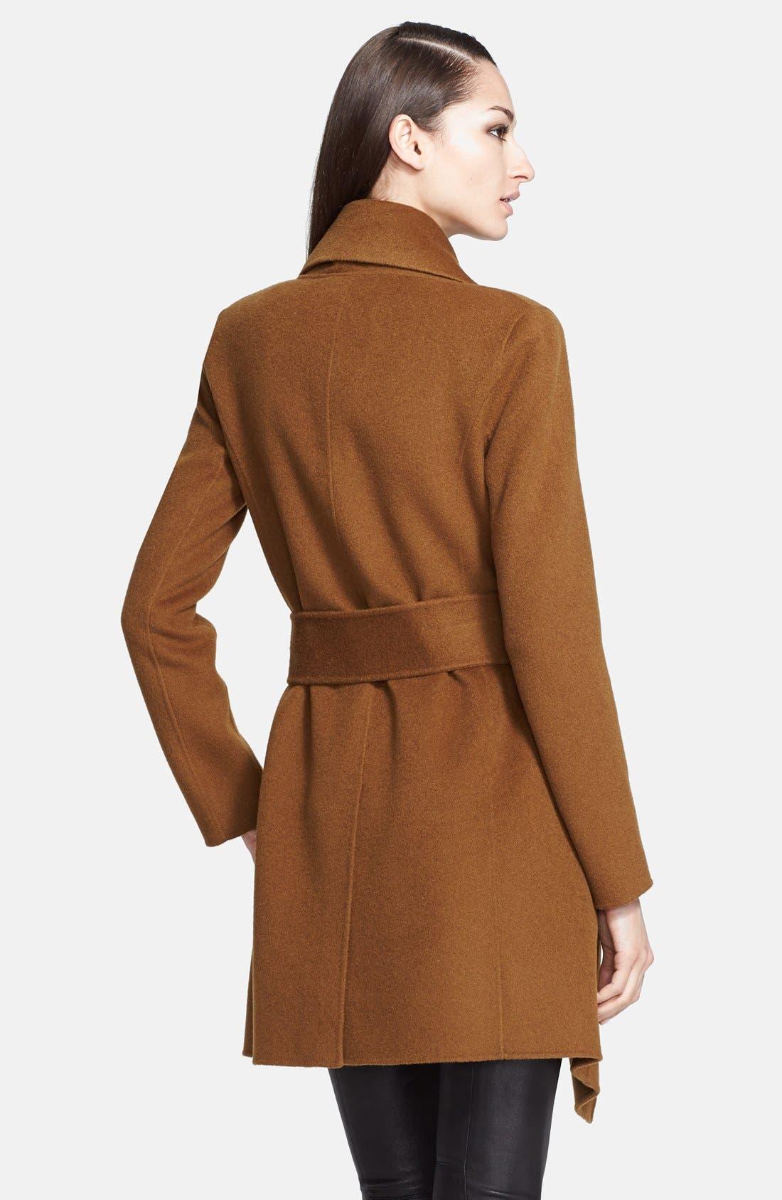 Donna Karan Collection Belted Cashmere Wrap Coat,                             Alternate thumbnail 4, color,                             930