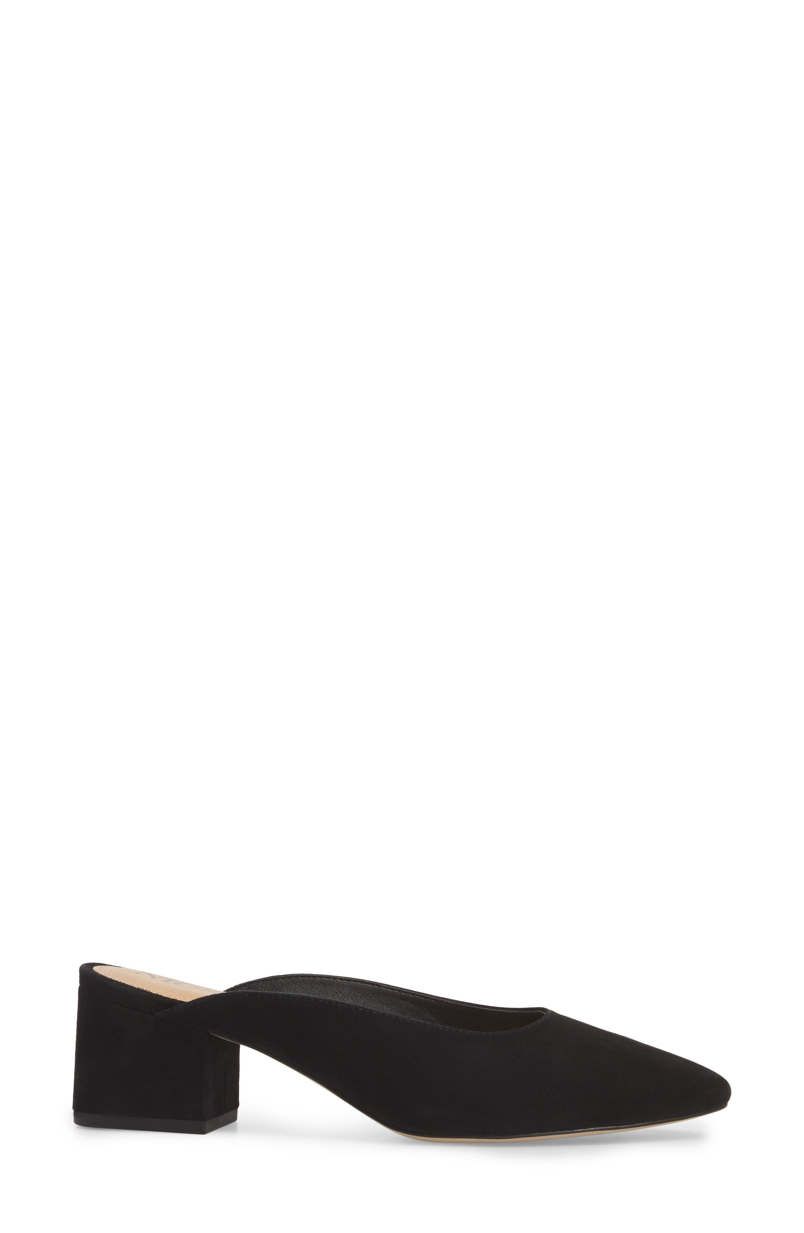 Jayla Mule,                             Alternate thumbnail 3, color,                             BLACK SUEDE