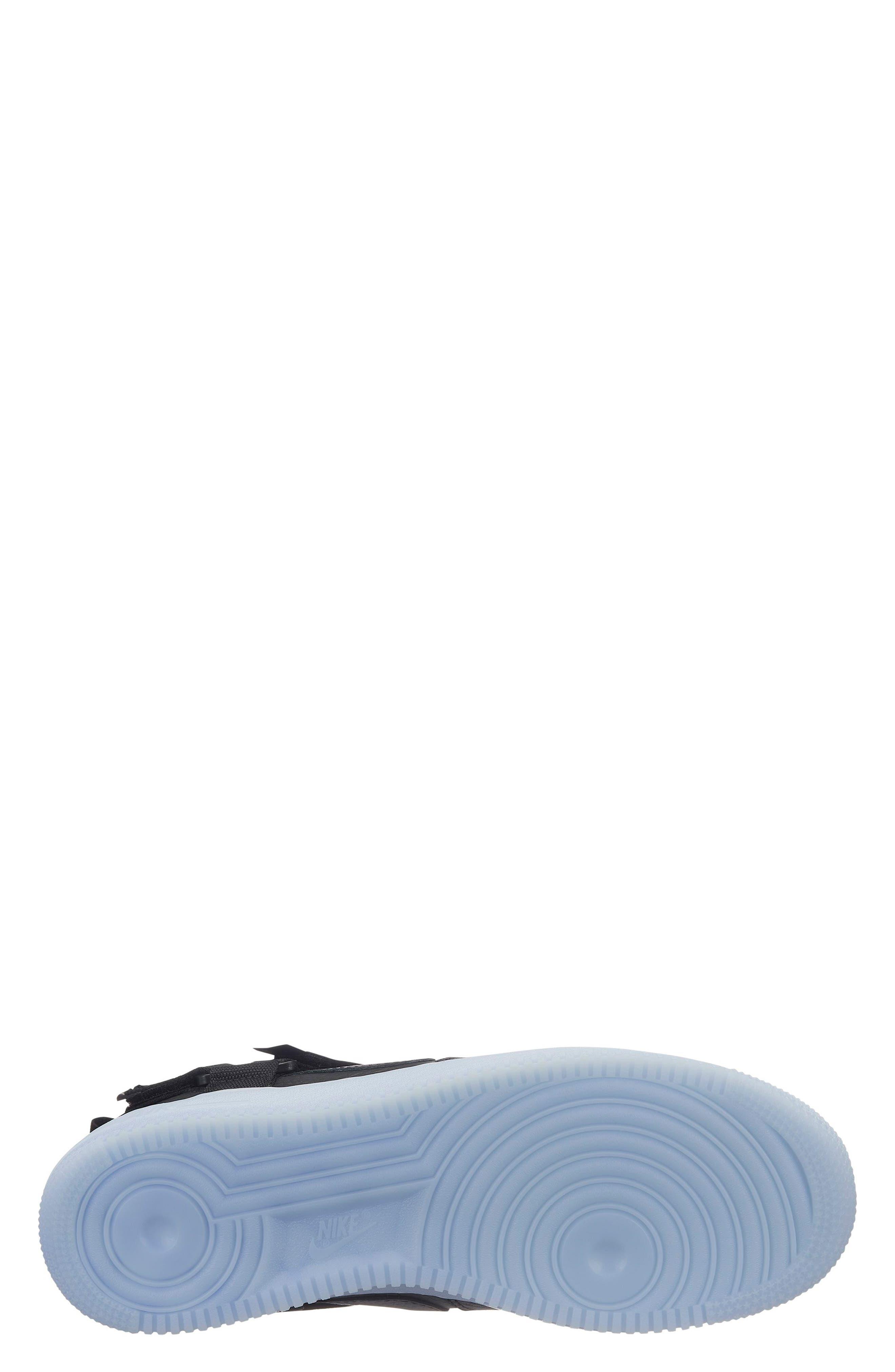 Air Force 1 Utility Mid Sneaker,                             Alternate thumbnail 2, color,                             BLACK/ HALF BLUE/ WHITE