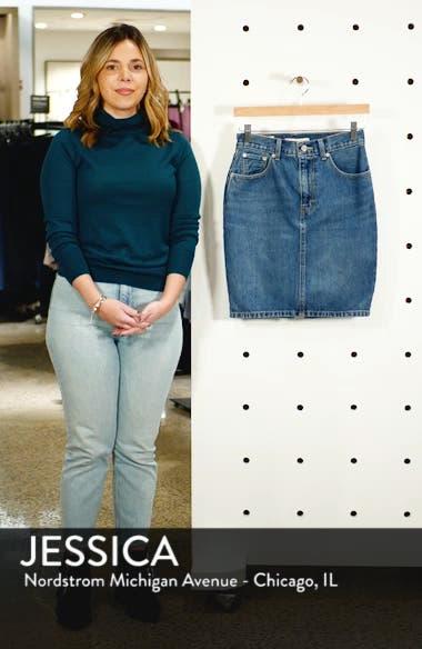 Mom Bow Back Denim Skirt, sales video thumbnail
