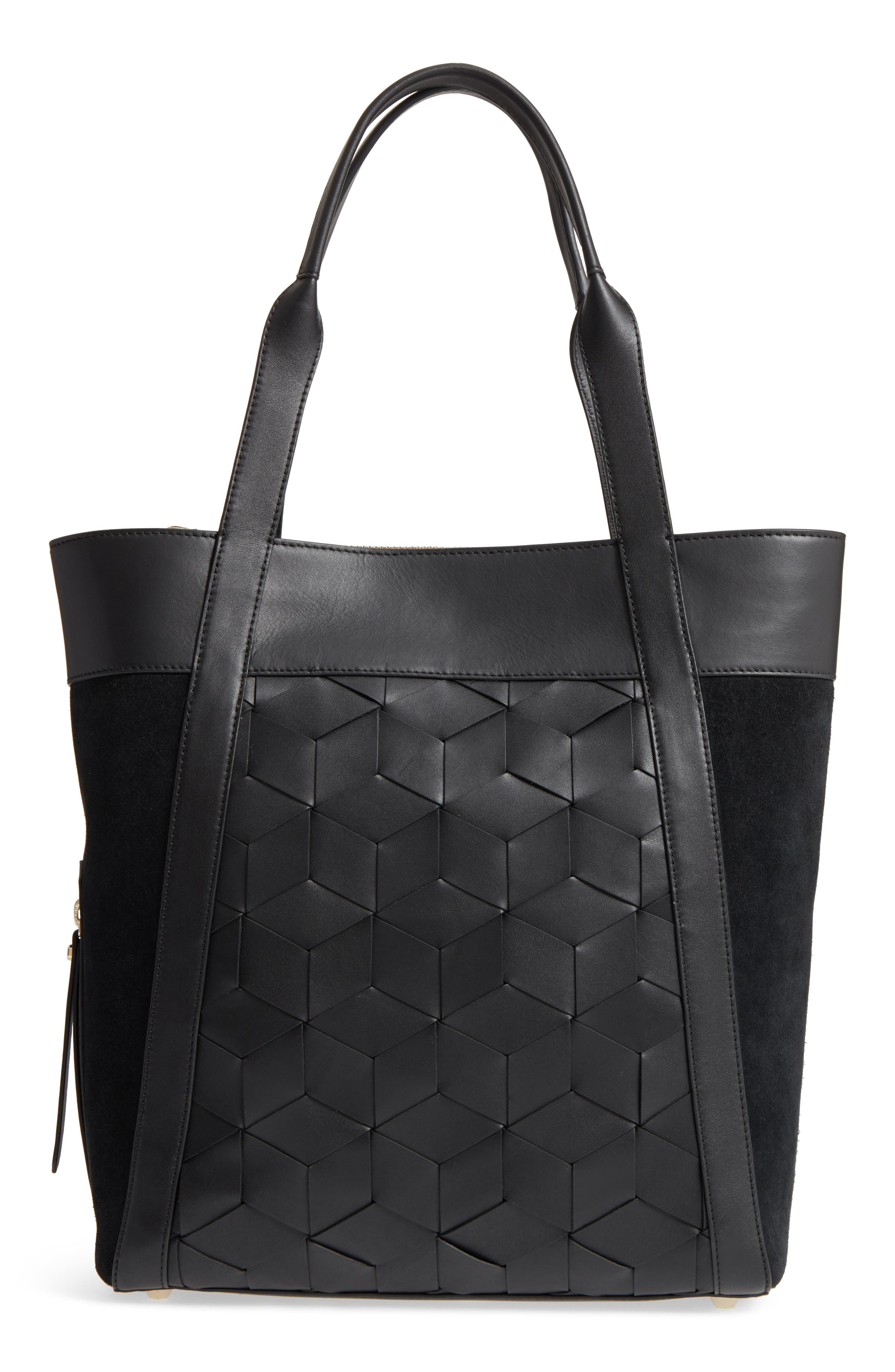 Northbound Suede & Leather Tote,                         Main,                         color, 001